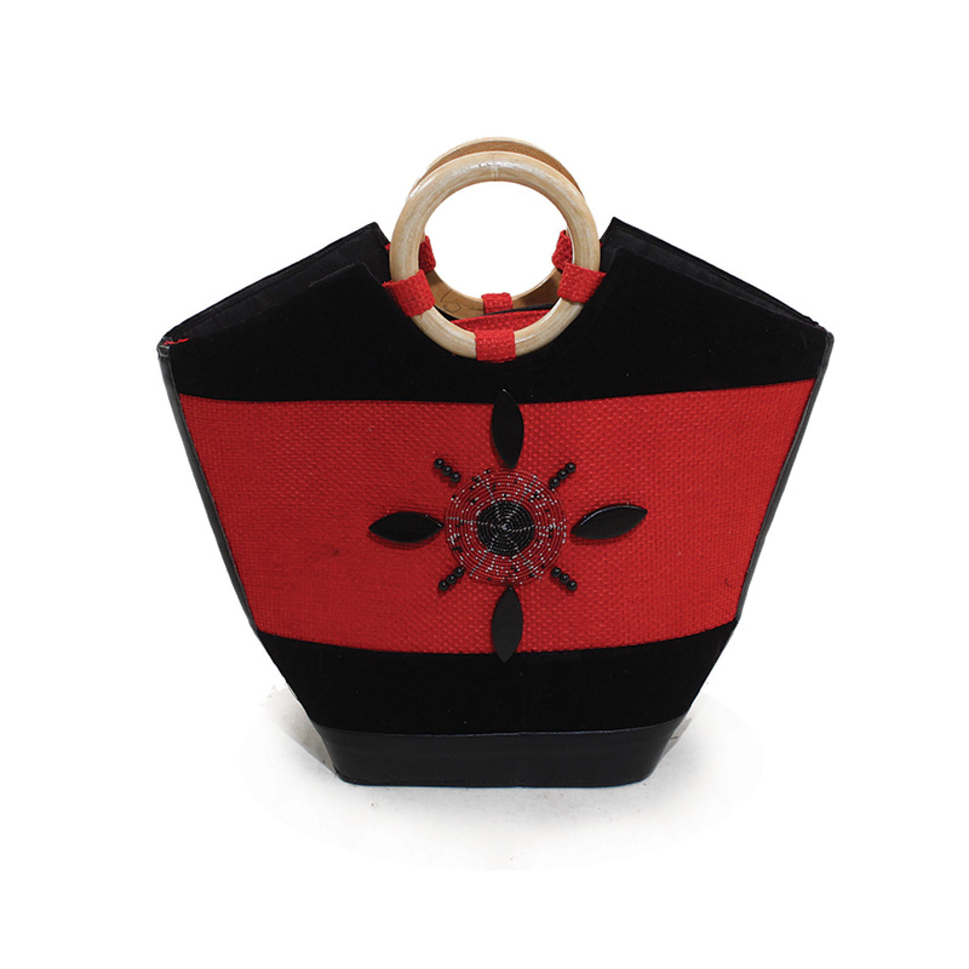 Picture of Leather Handbag - Red