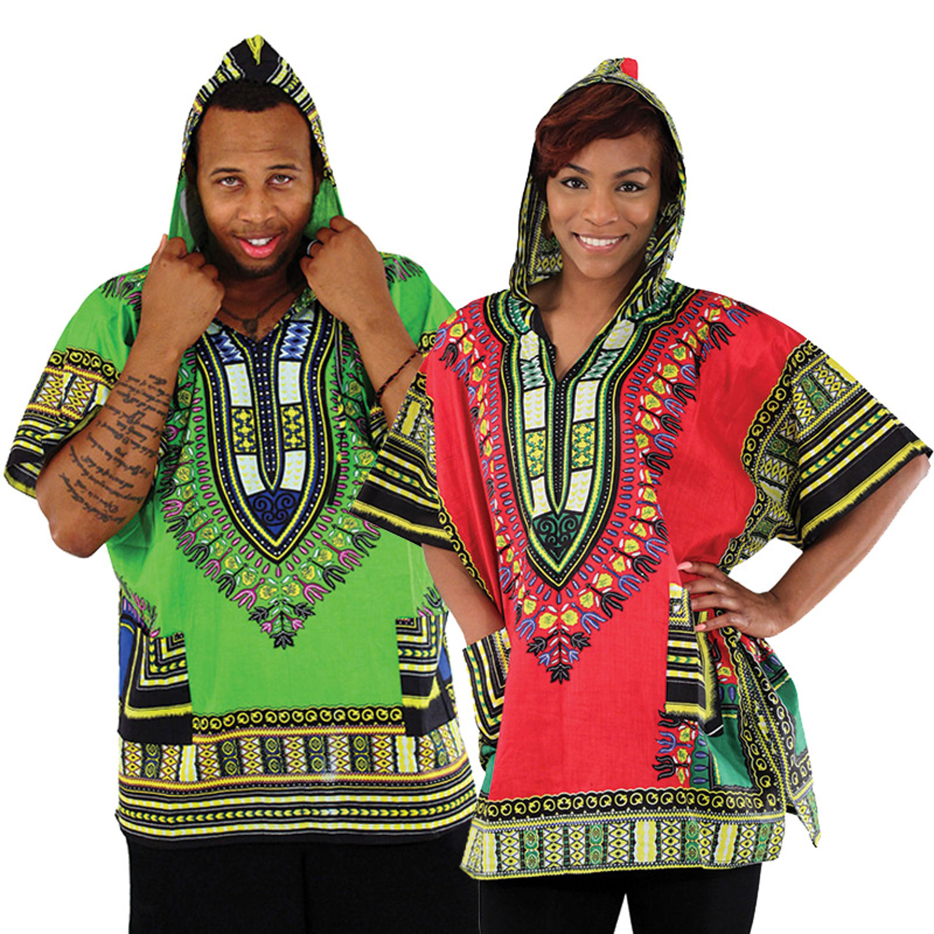 Picture of Traditional Print Hoodie Dashiki