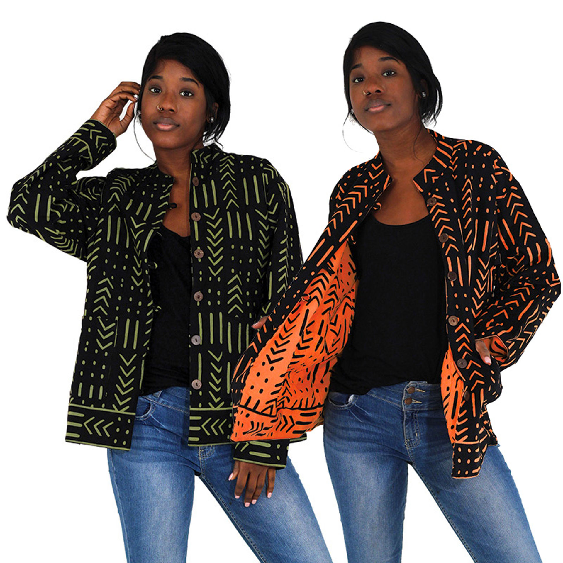 Picture of Reversible Mud Print Jacket