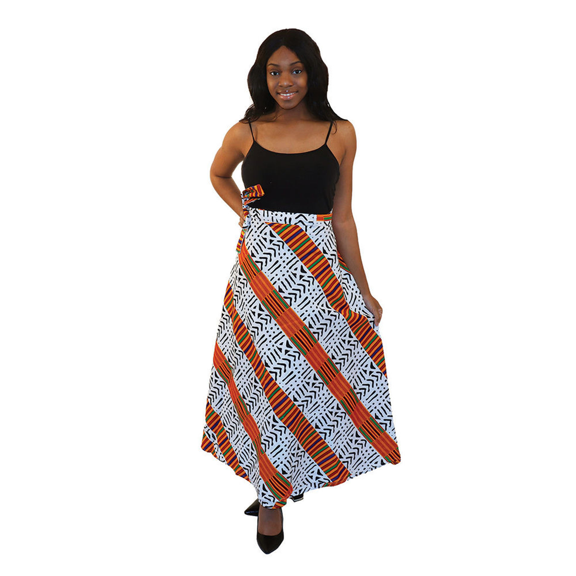 Picture of Kente/Mud Print Wrap Skirt