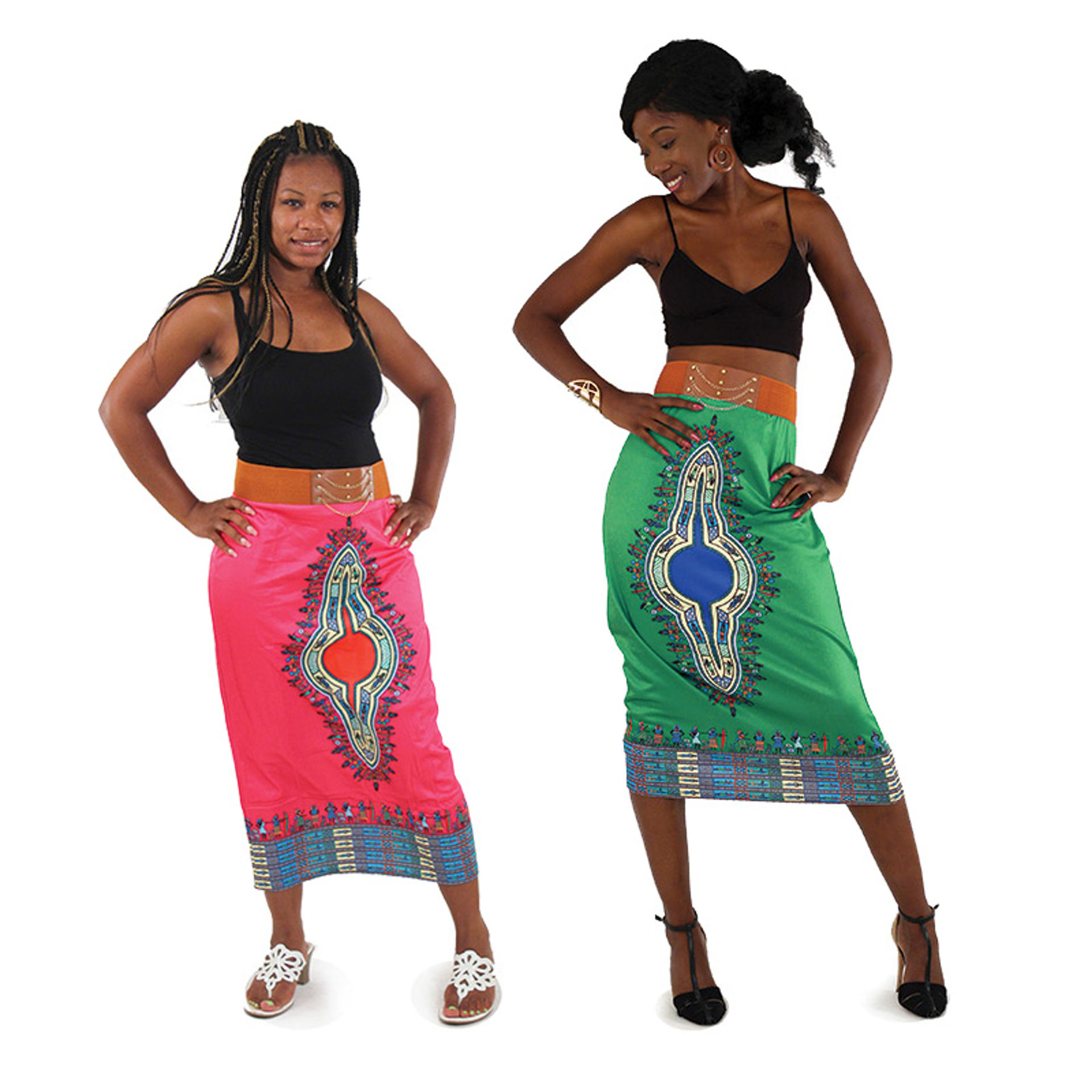 Picture of Traditional Print Stretch Skirt