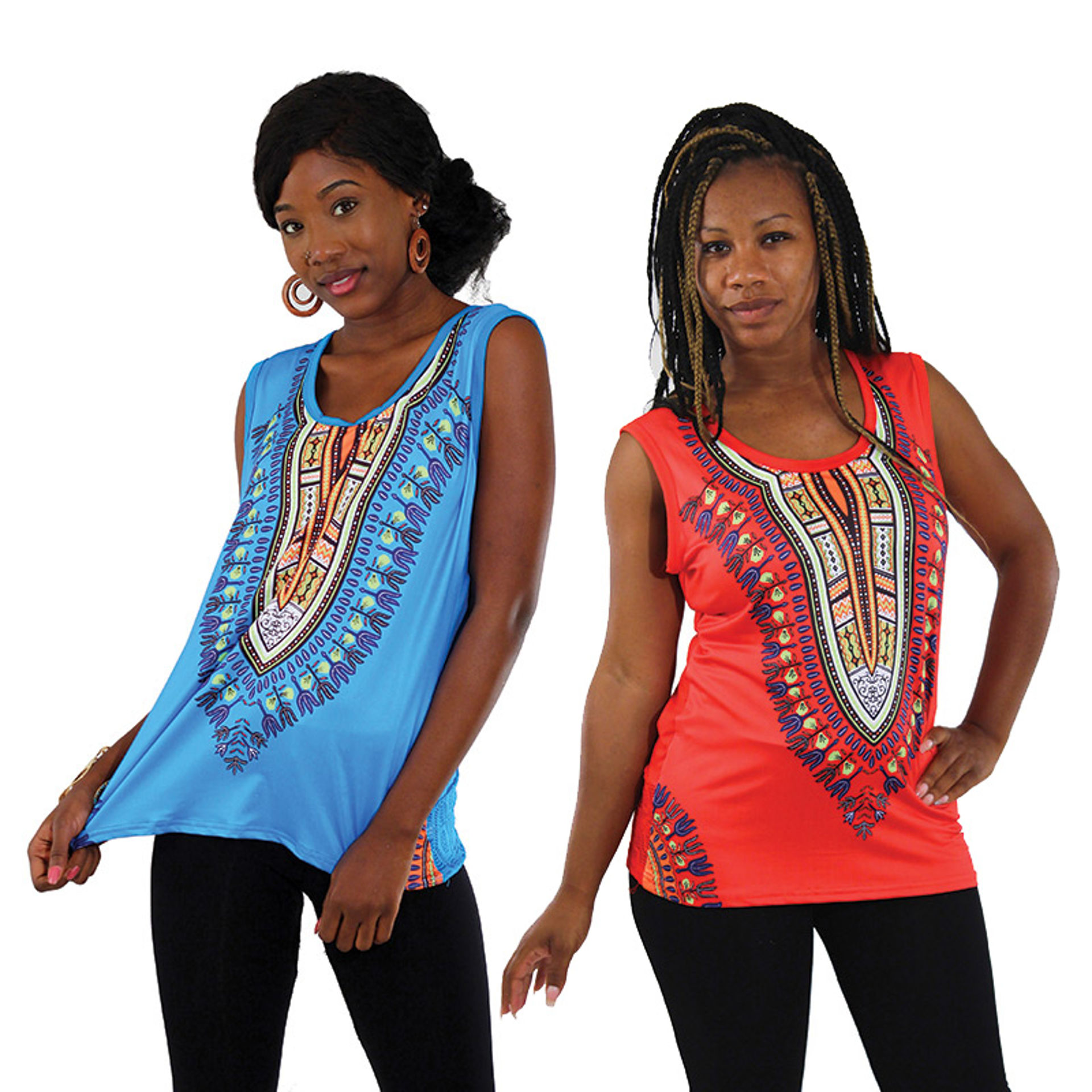 Picture of Traditional Print Stretch Tank Top