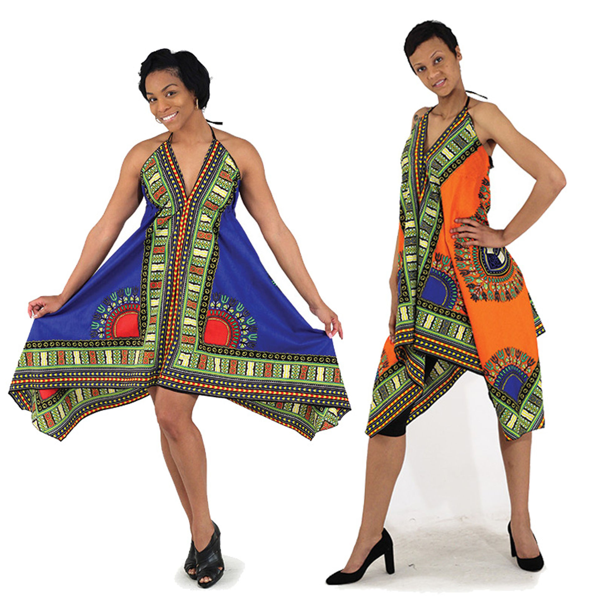 Picture of Traditional Print Spaghetti Strap Dress