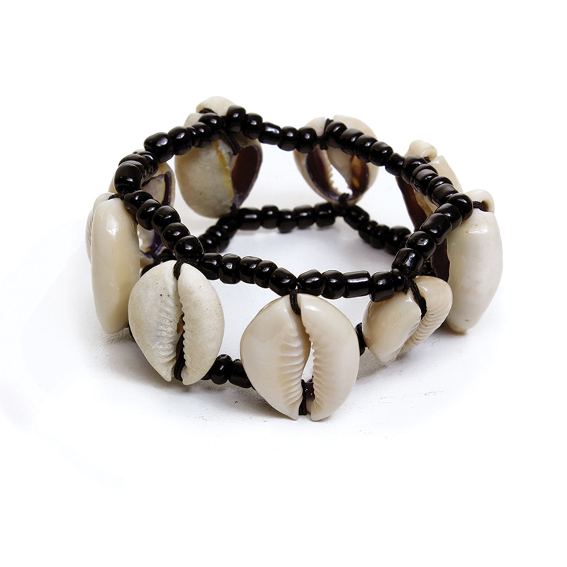 Picture of Cowrie Shell Bracelet: Black