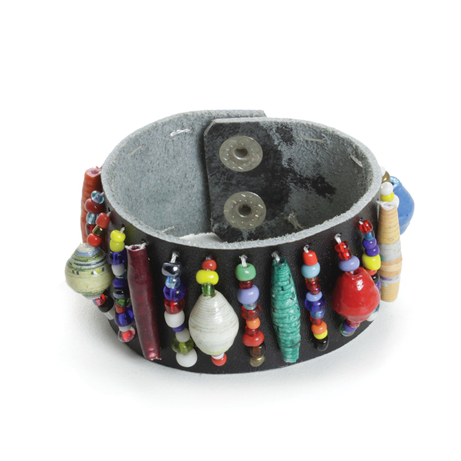 Picture of Trade Bead Leather Bracelet