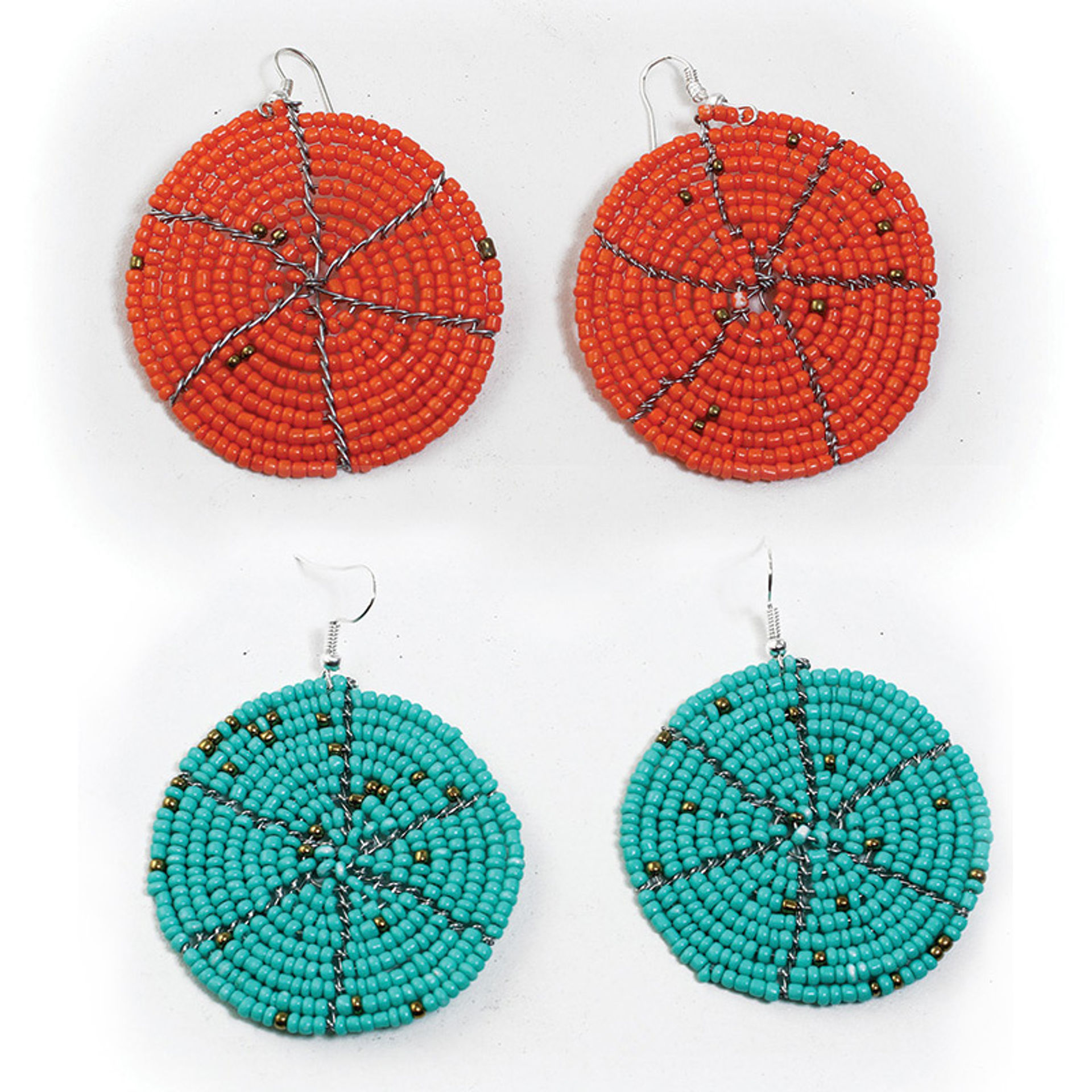 Picture of Maasai Bead Round Earrings