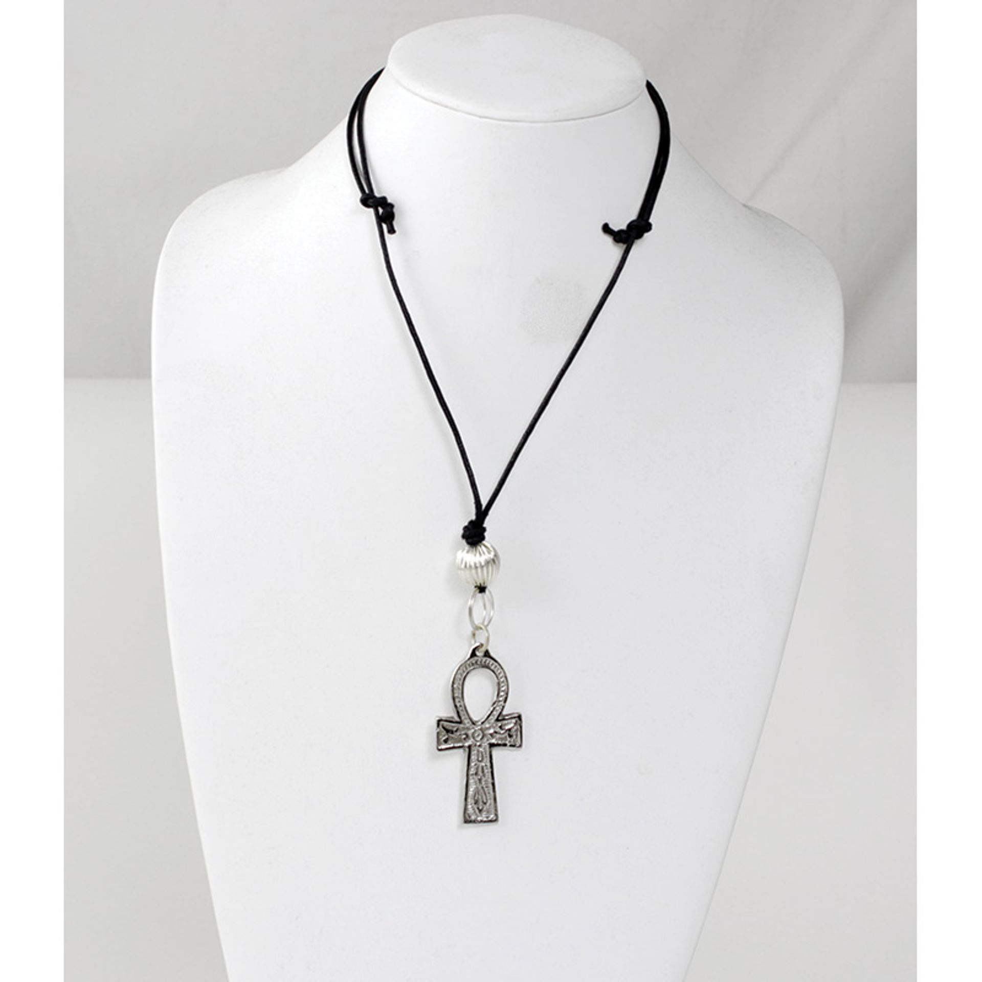 "Picture of Silver Ankh Necklace: Medium (2"")"