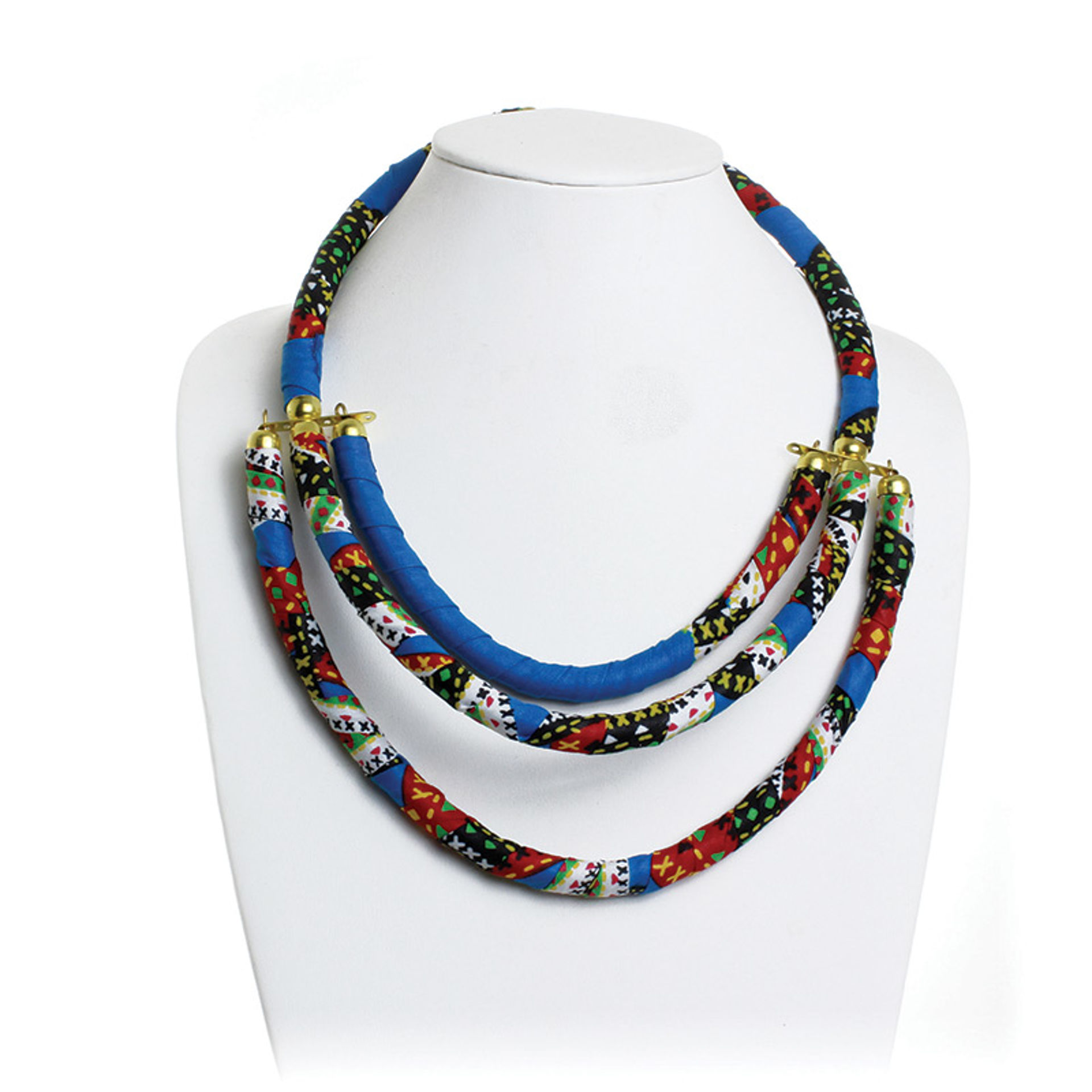 Picture of Kitenge 3-Row Multi Necklace - ASSORTED