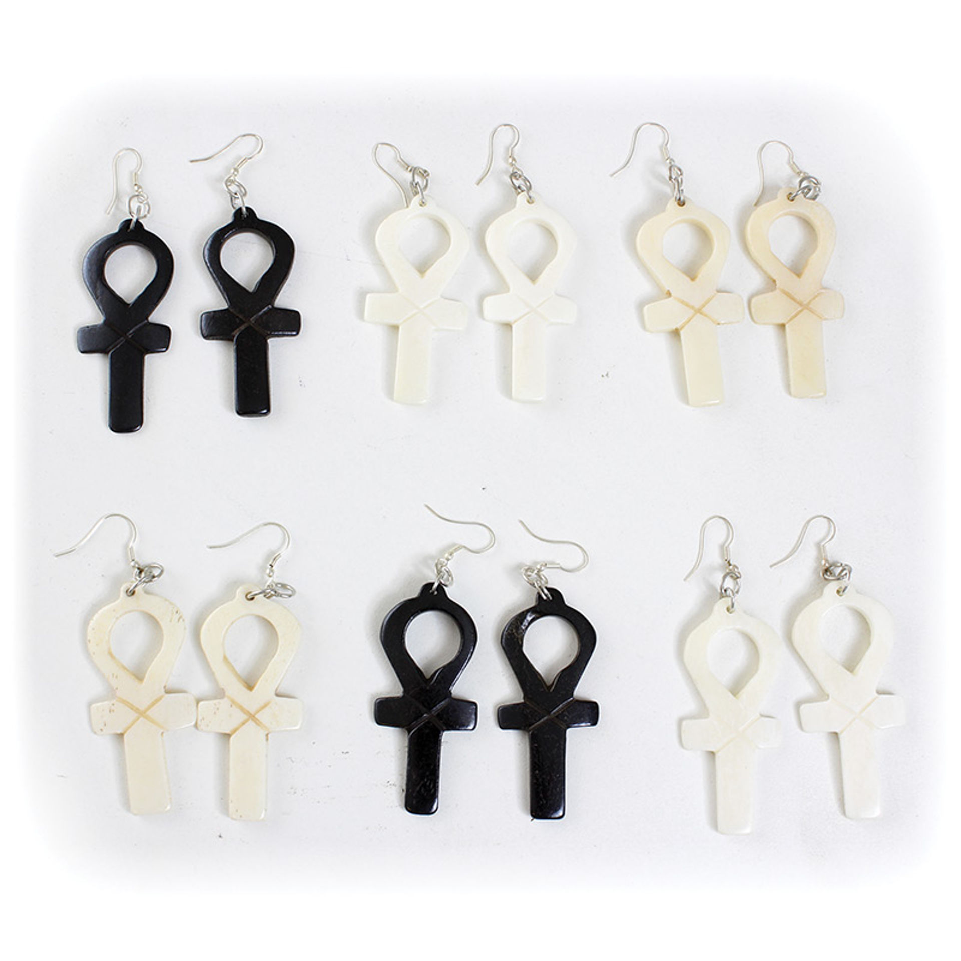Picture of Set Of 6 Ankh Earrings