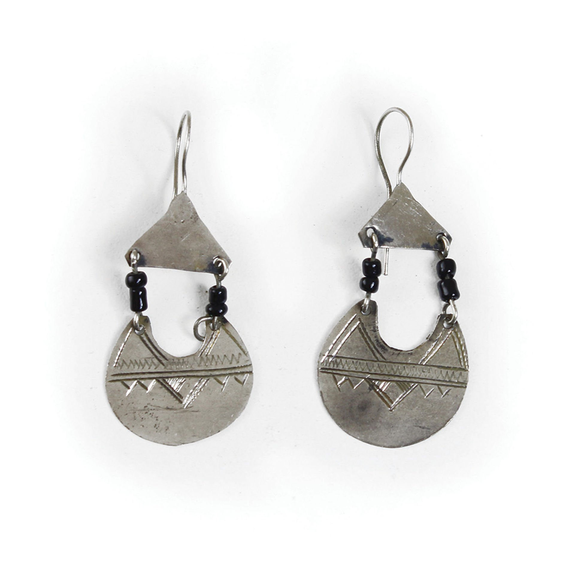 Picture of Crescent Tuareg Silver Earrings