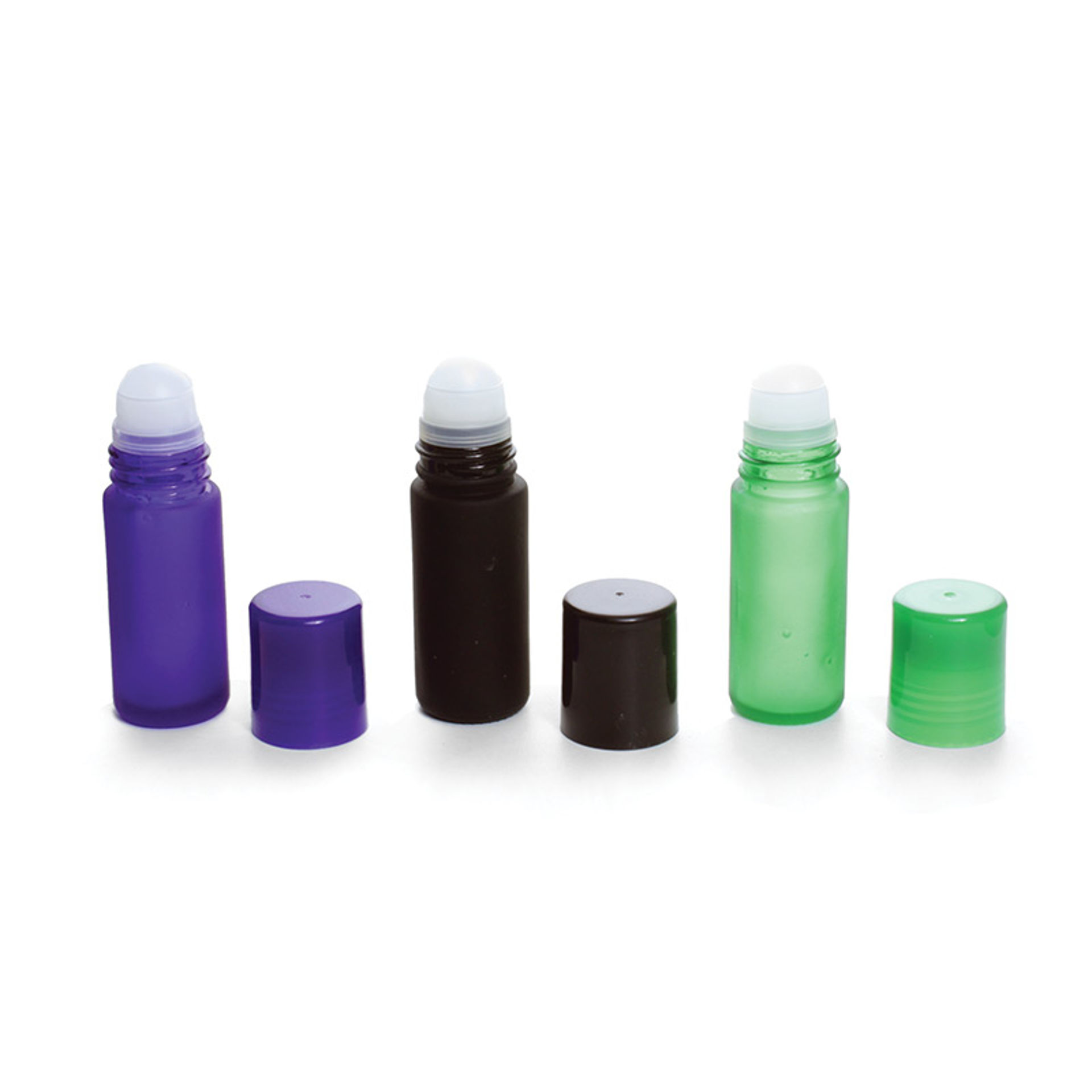 Picture of 12 Colored Glass 1 oz. Roll-On Bottles