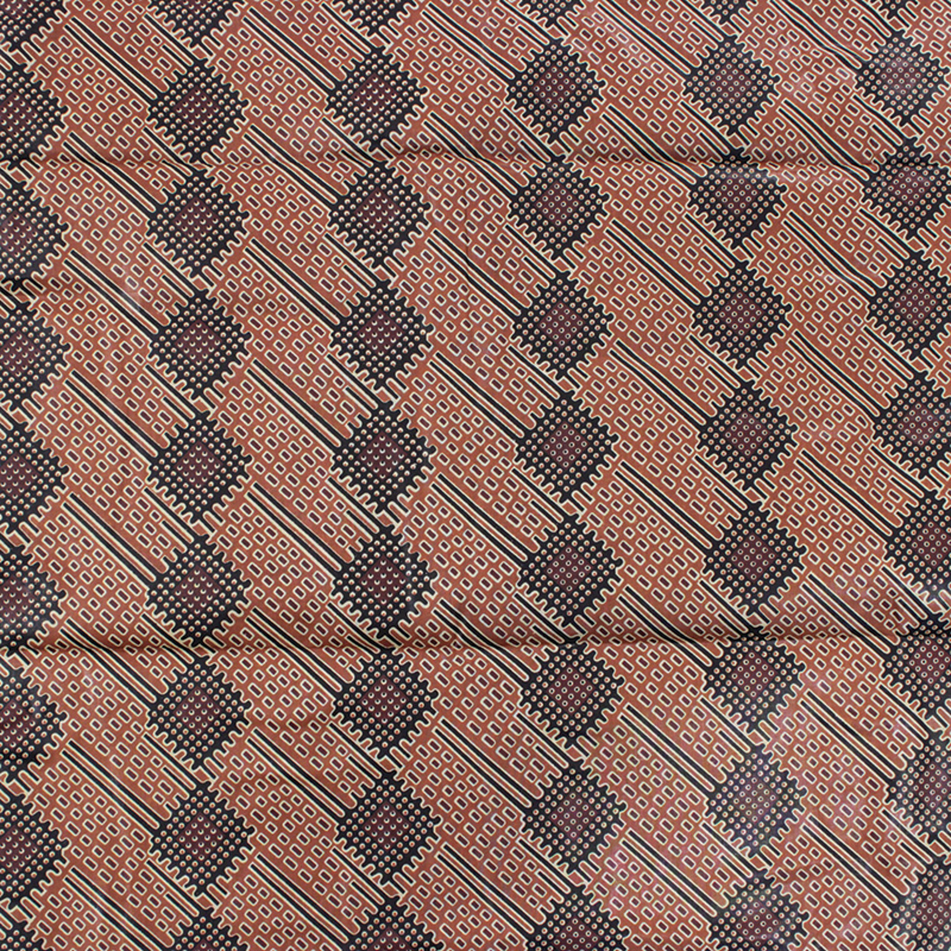 Picture of Brown & Black Pattern Fabric