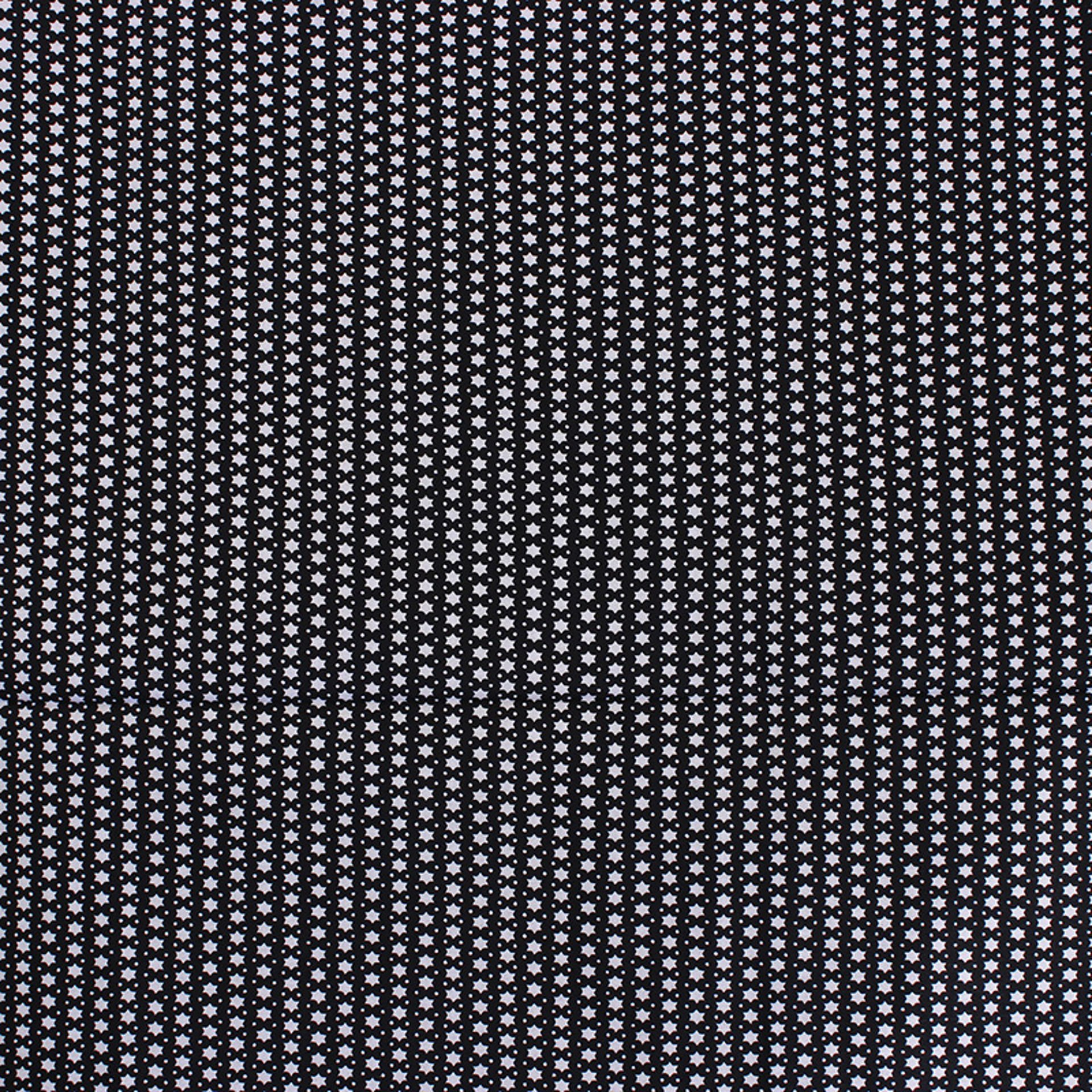 Picture of Black & White Star Pattern Fabric