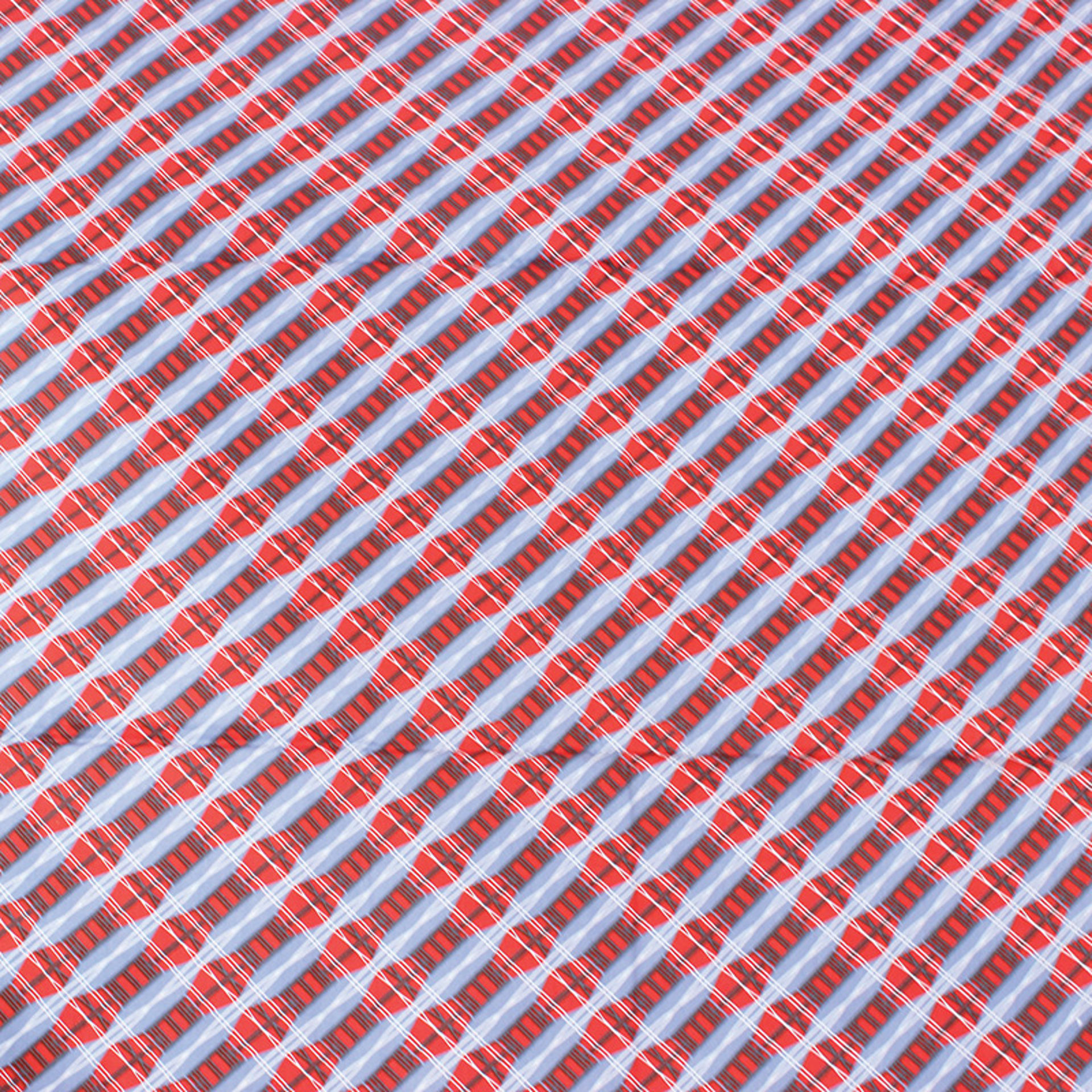 Picture of Red/Blue Tweed Print Fabric