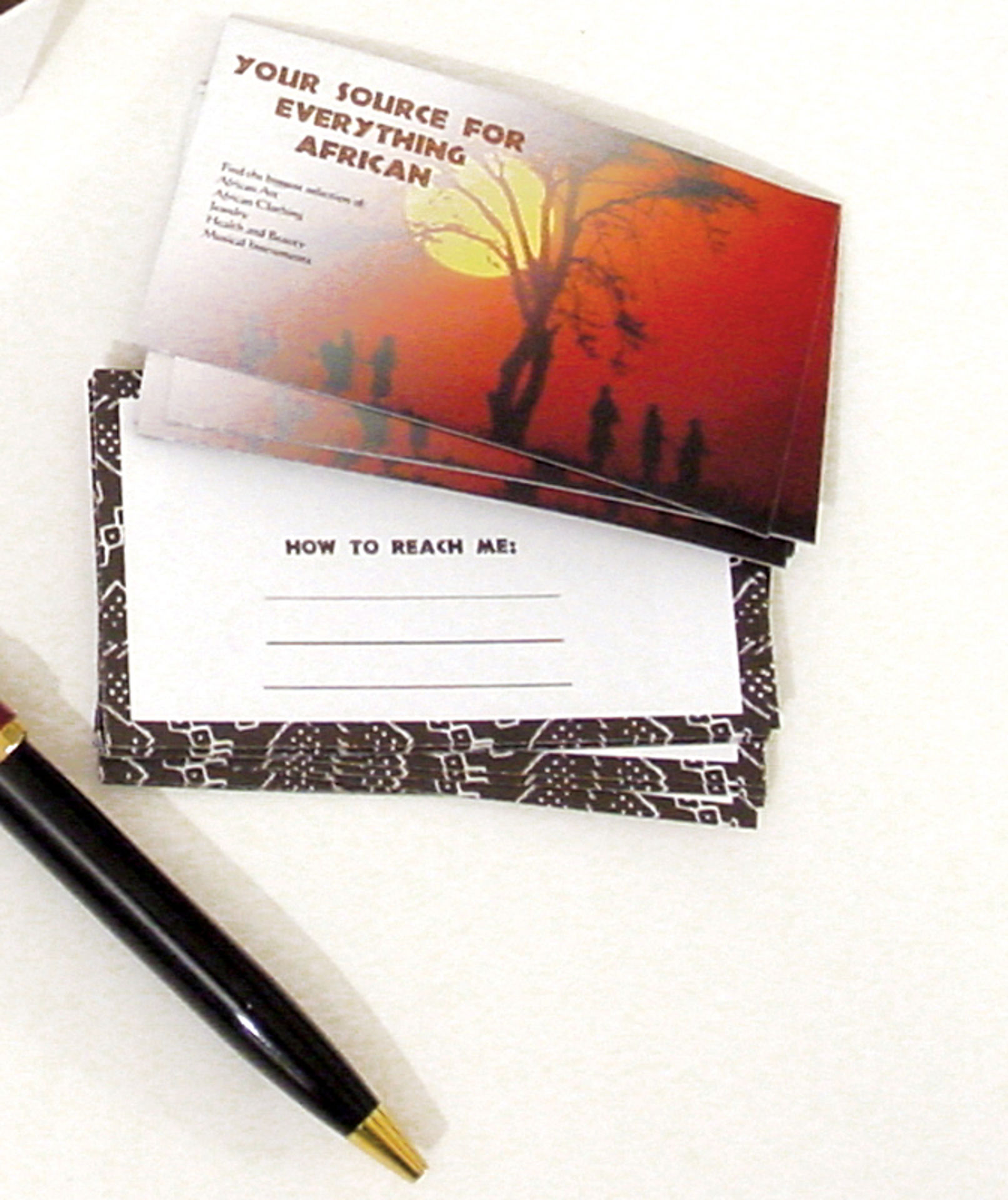 Picture of 20 African Business Cards
