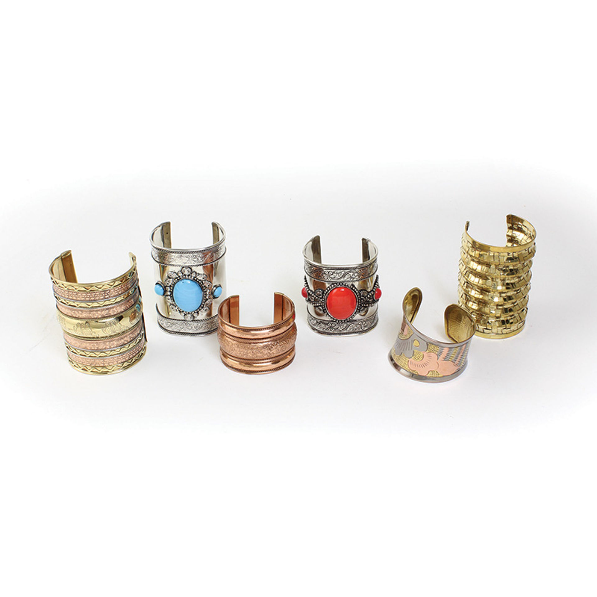 Picture of Set Of 6 Assorted Metal Cuffs