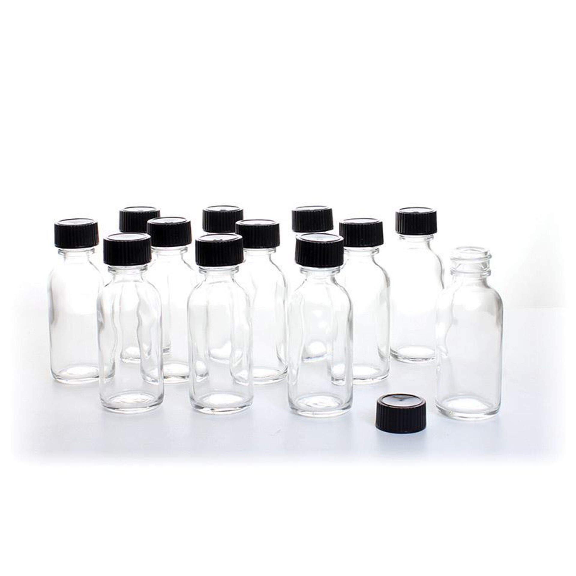 Picture of 1 oz. Glass Bottles  - Set Of 12