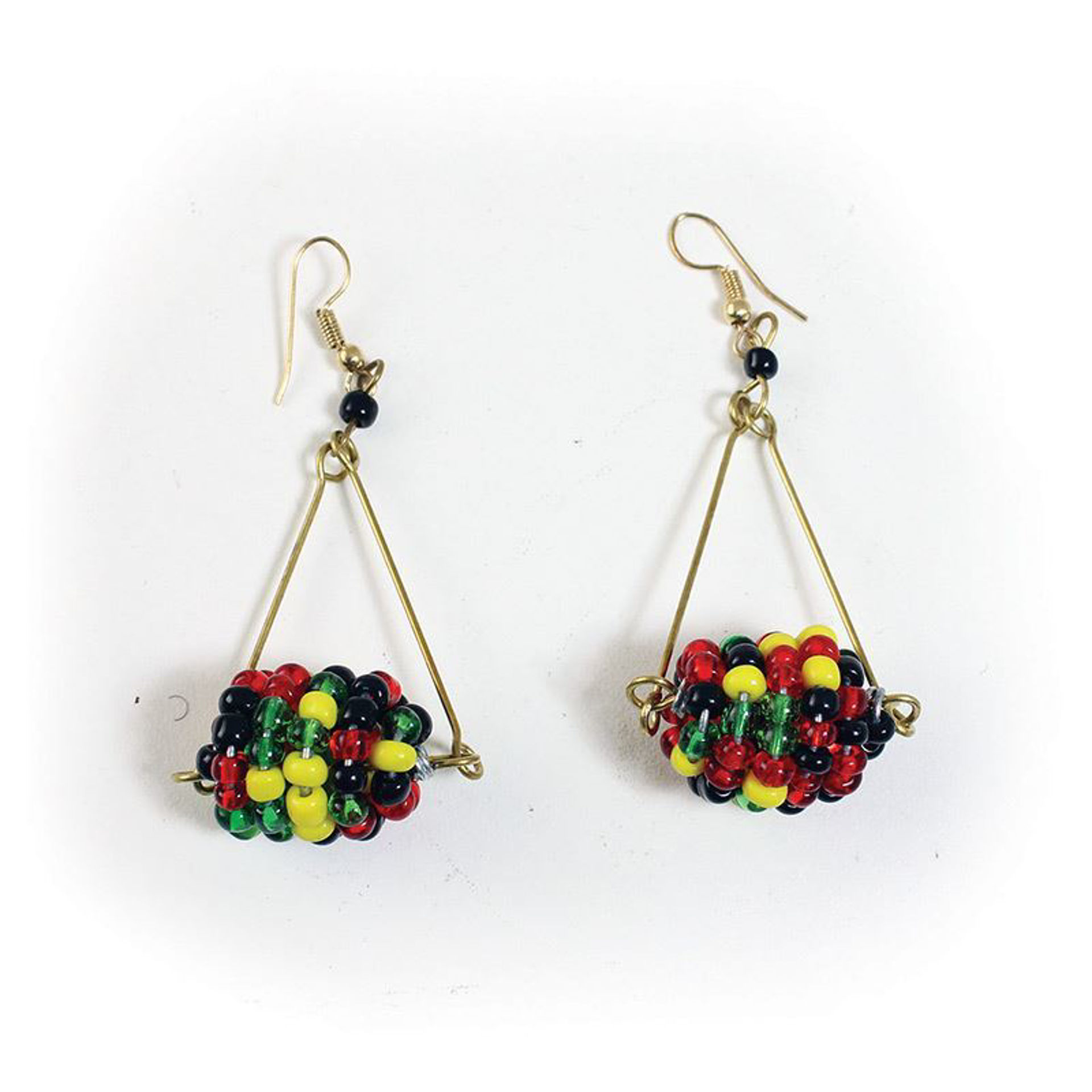 Picture of Multi-Color Hanging Ball Maasai Earrings
