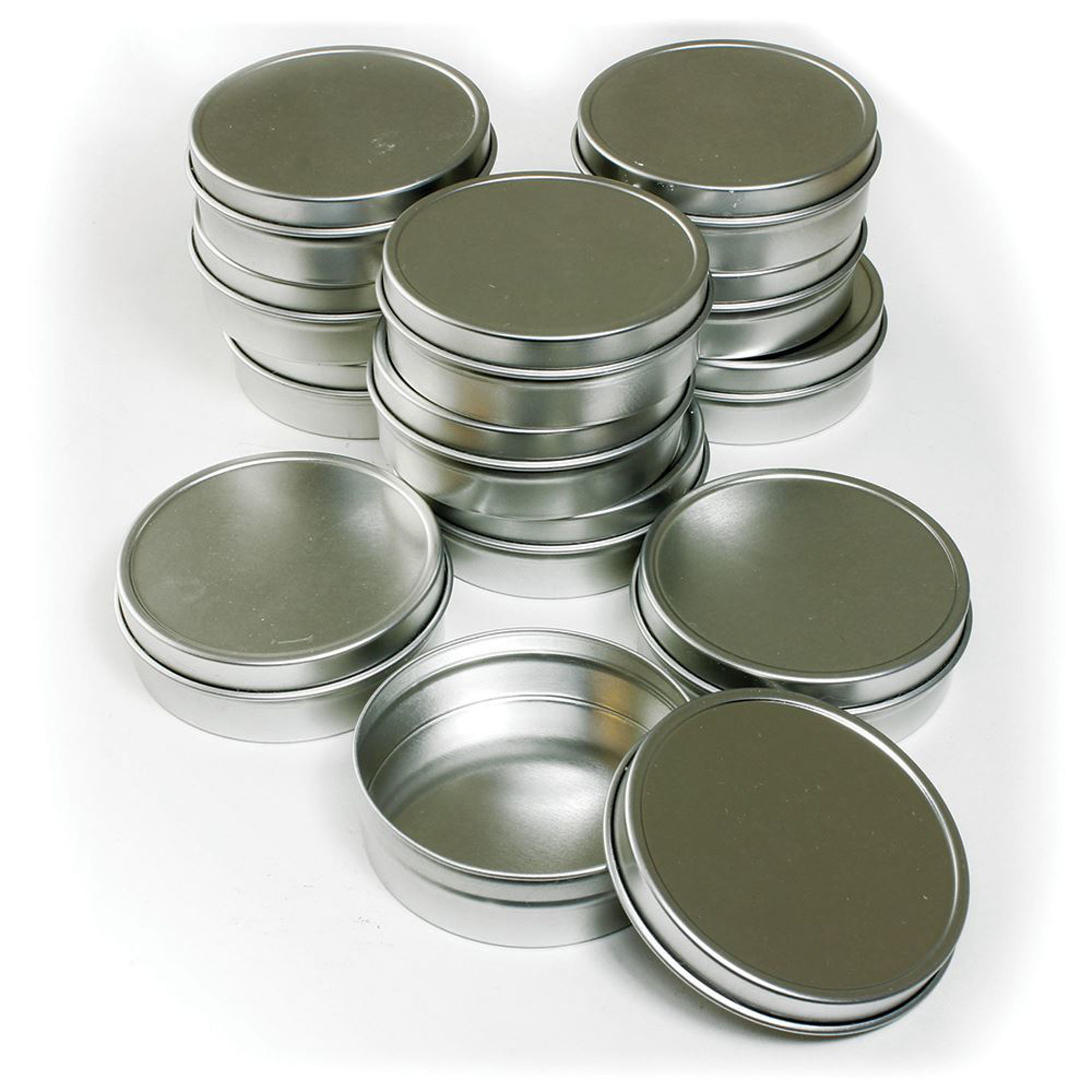 Picture of Set Of 12 Tin Containers 2 oz.