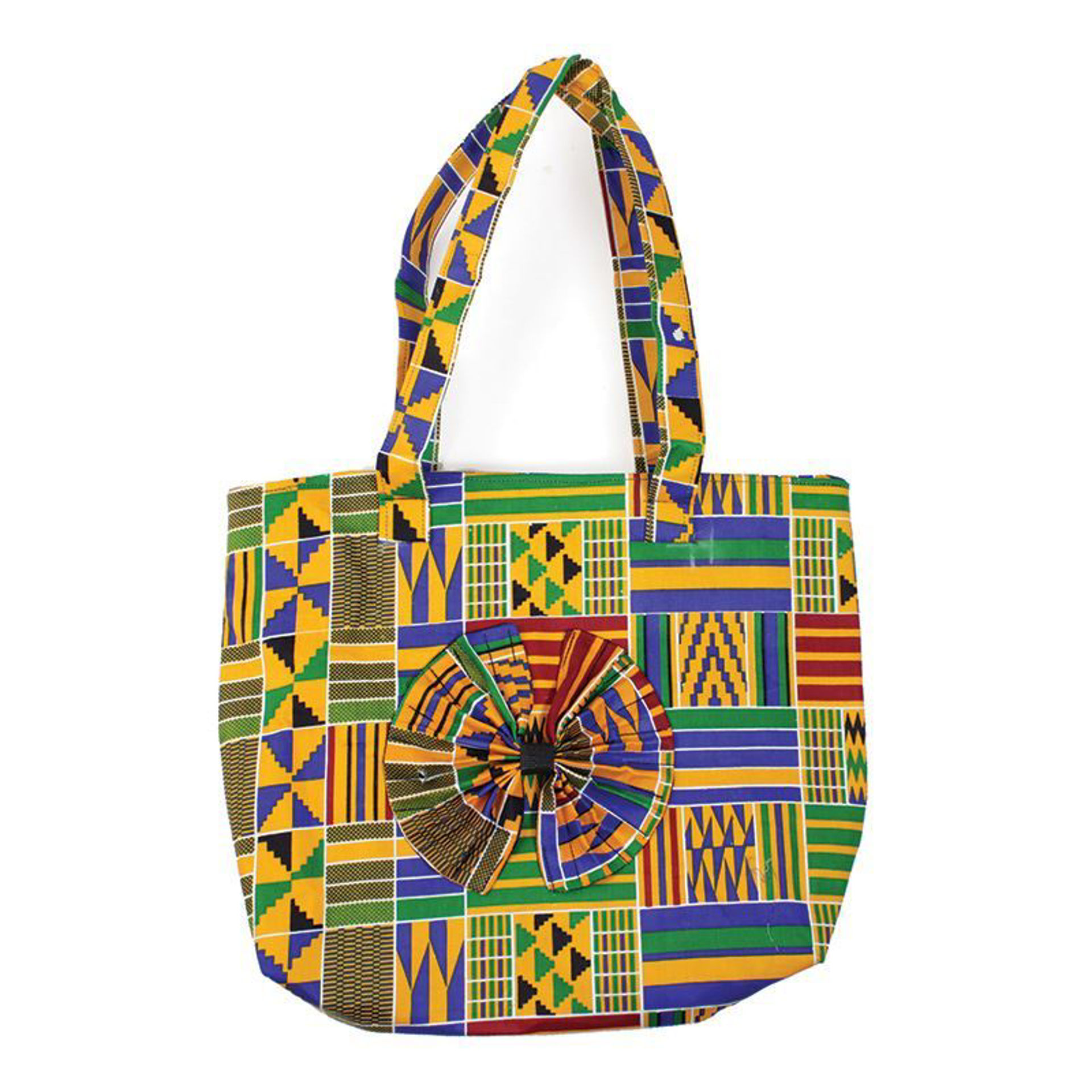 Picture of DAMAGED Kente Beauty-Bow Tote Bag