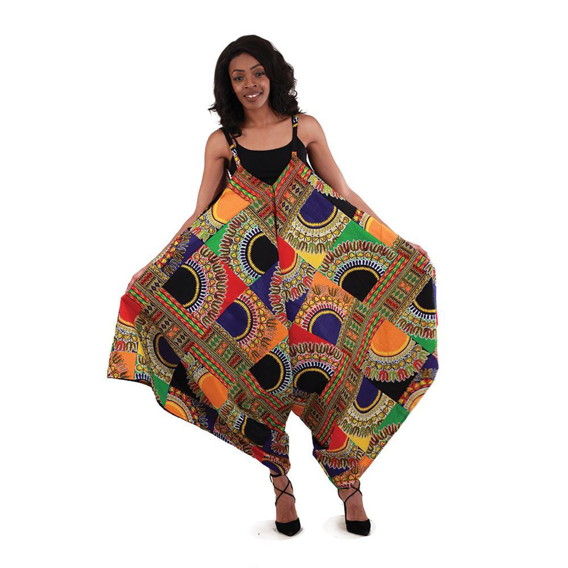 Picture of Traditional Patchwork Print Jumpsuit