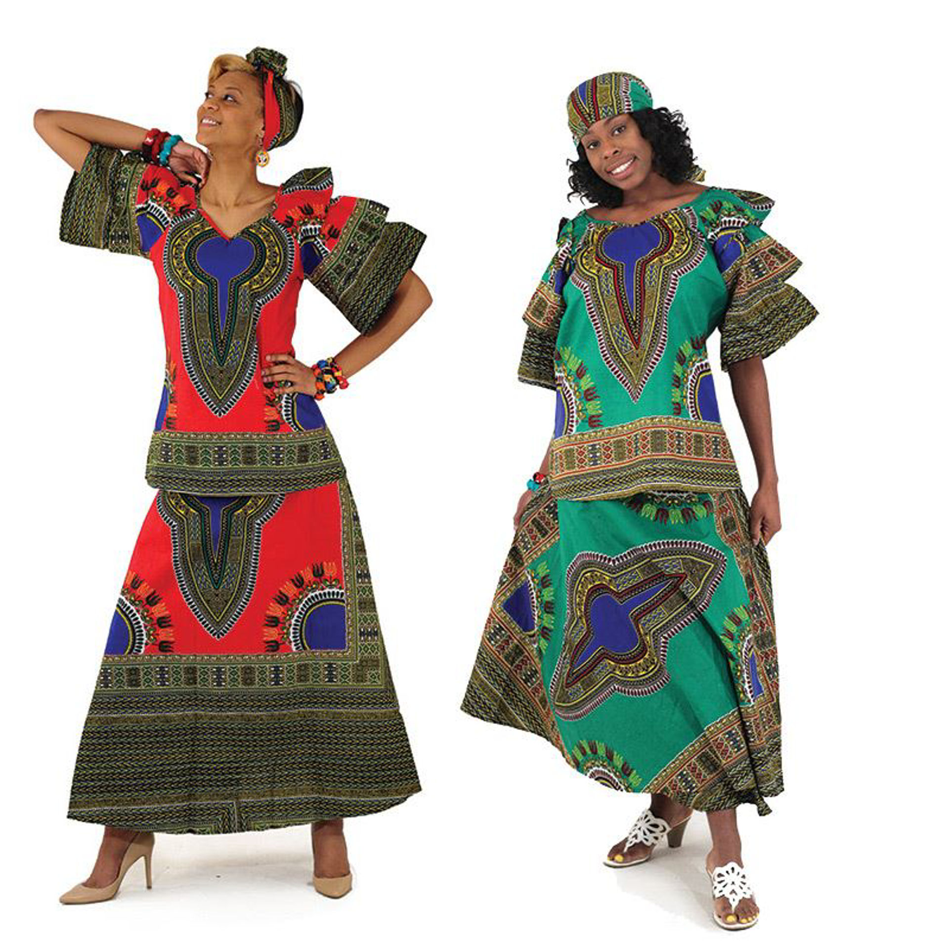 Picture of Traditional Print Princess Skirt Set