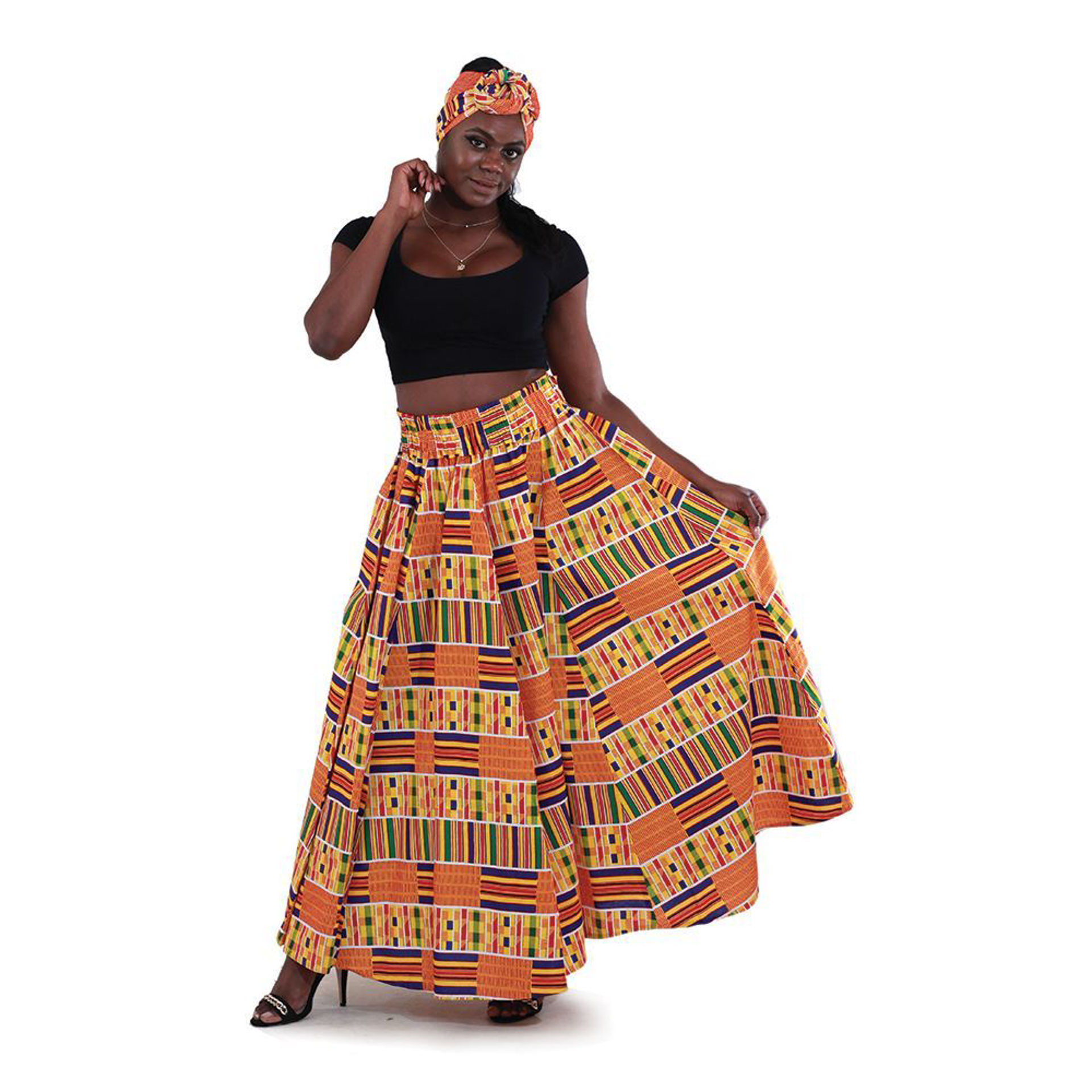 Picture of Kente #1 Long Skirt