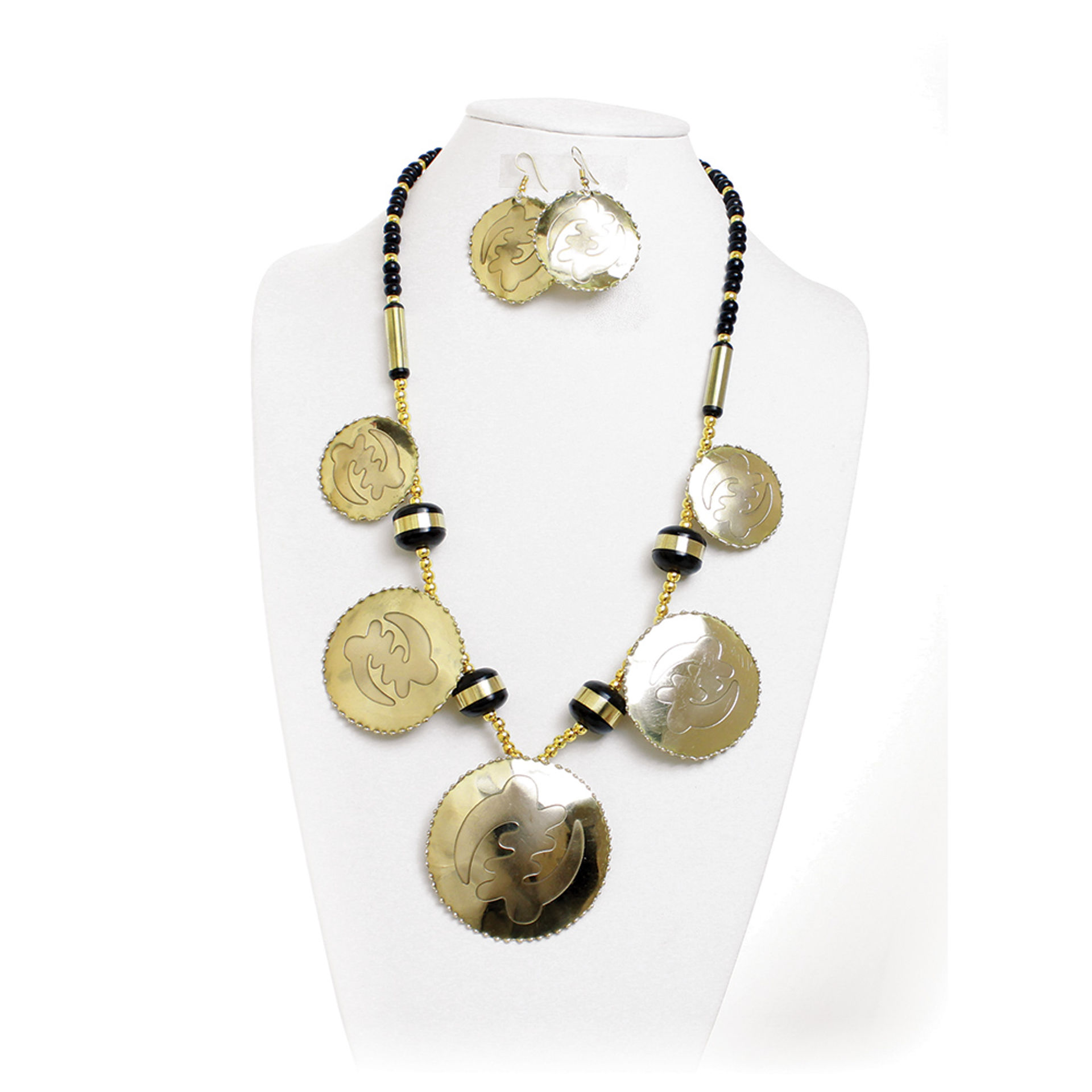 Picture of Brass Gye Nyame Jewelry Set