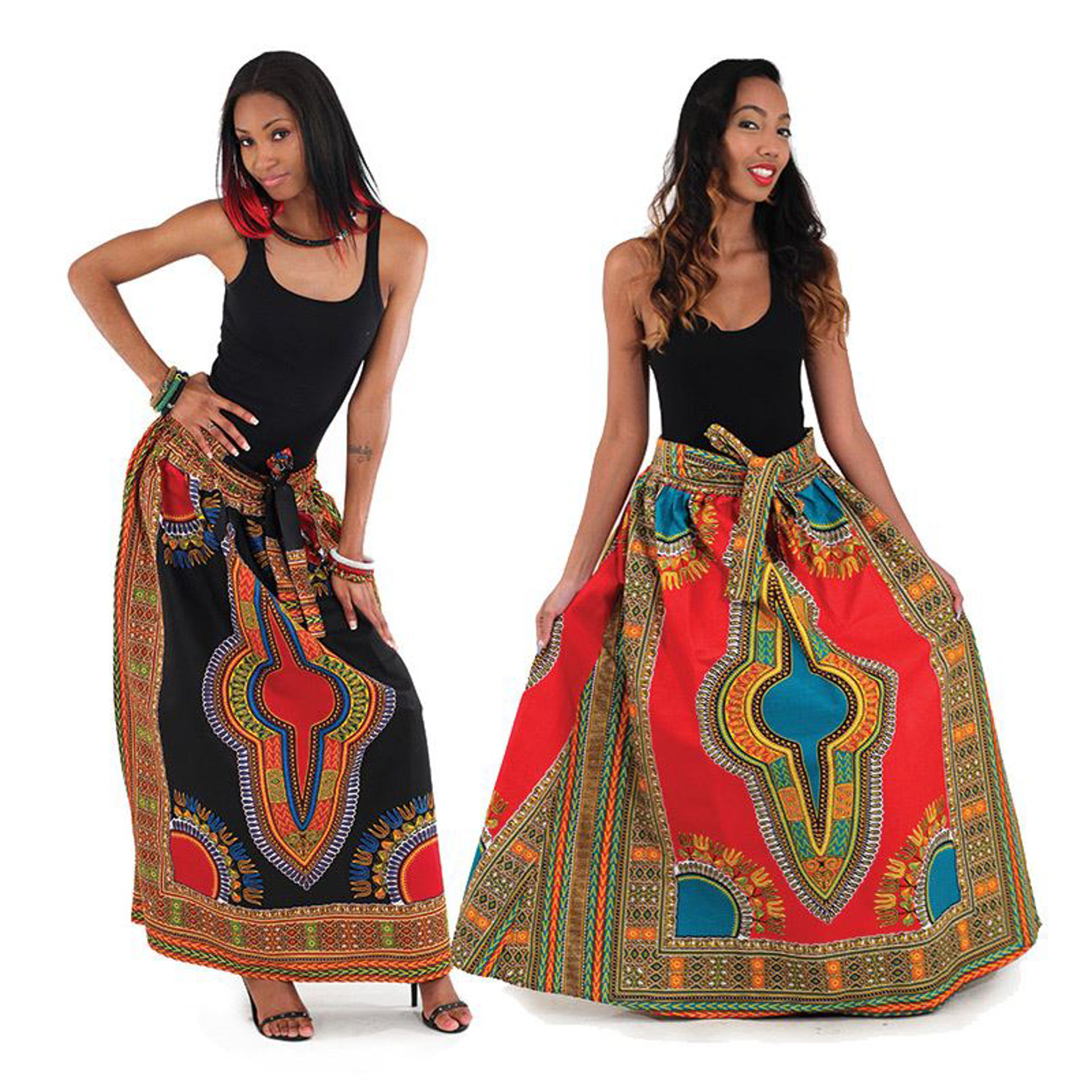 Picture of Traditional Print Panel Skirt