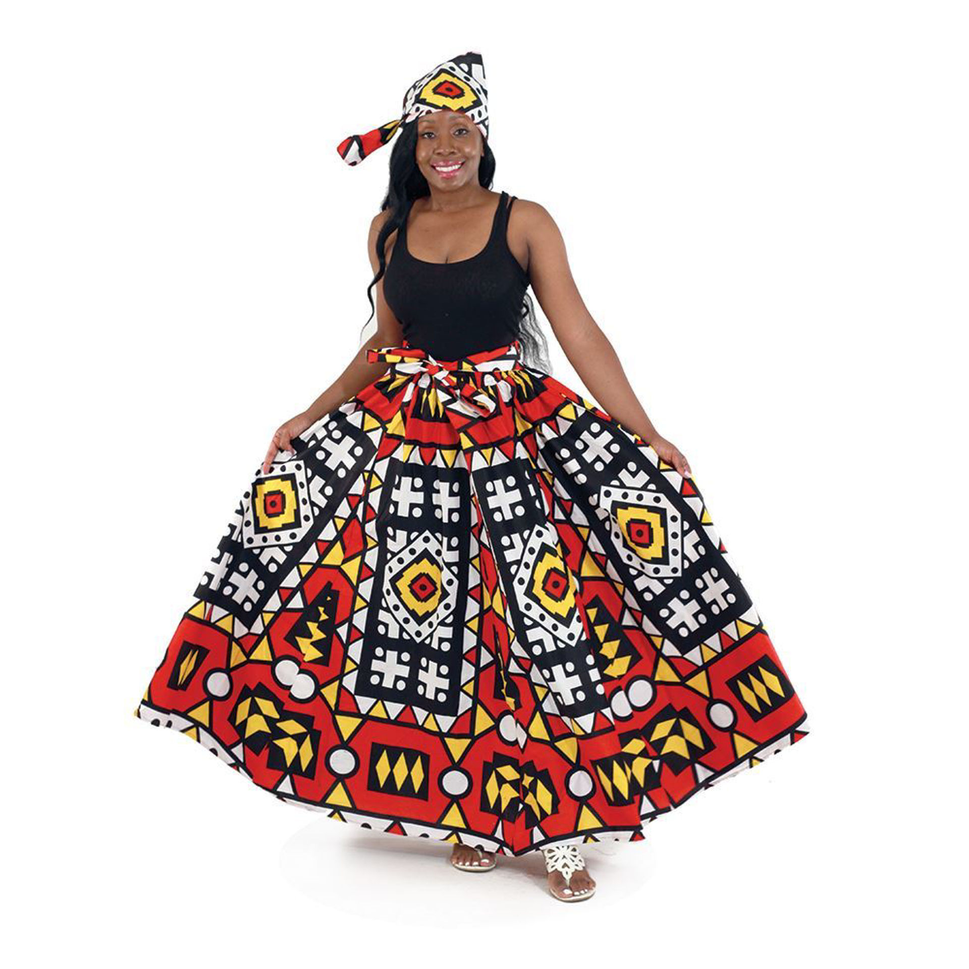 Picture of Abstract Print Maxi Skirt