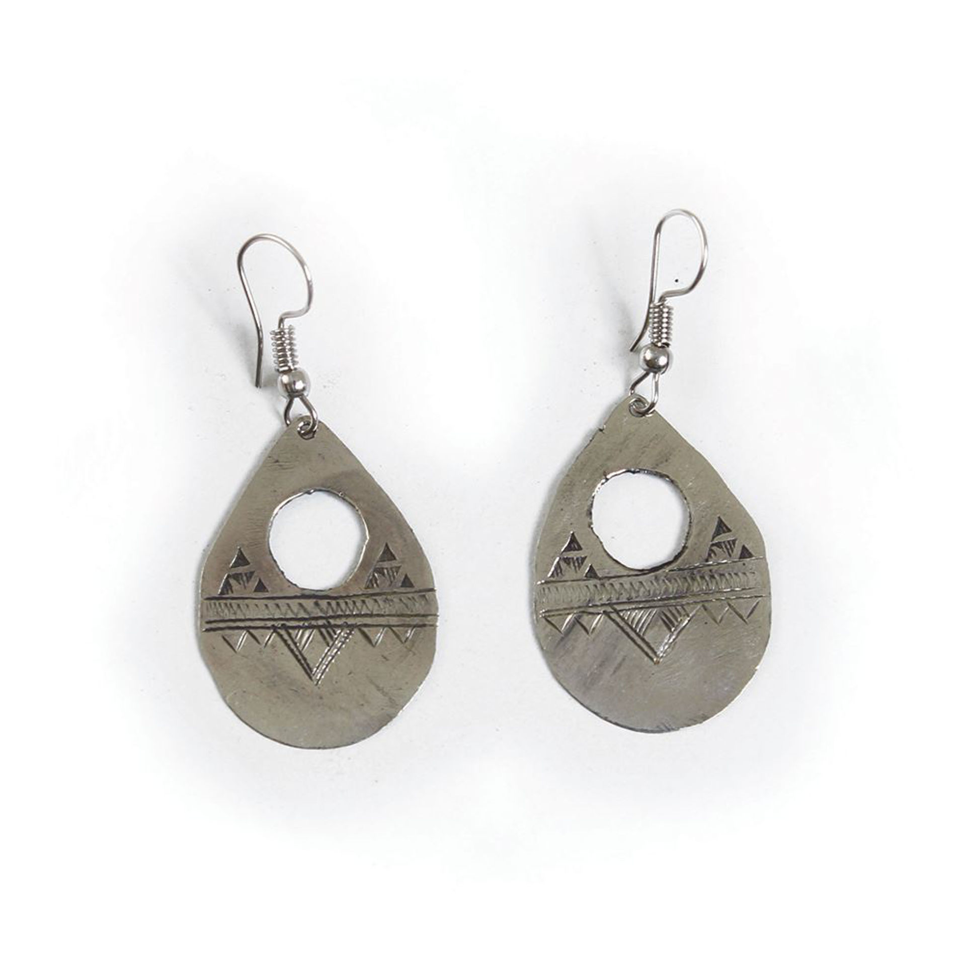Picture of Tuareg Silver Gofed Earrings - SM