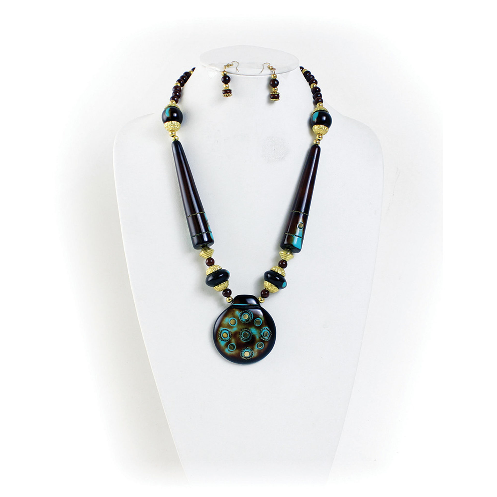 Picture of Antique Turquoise Necklace & Earrings