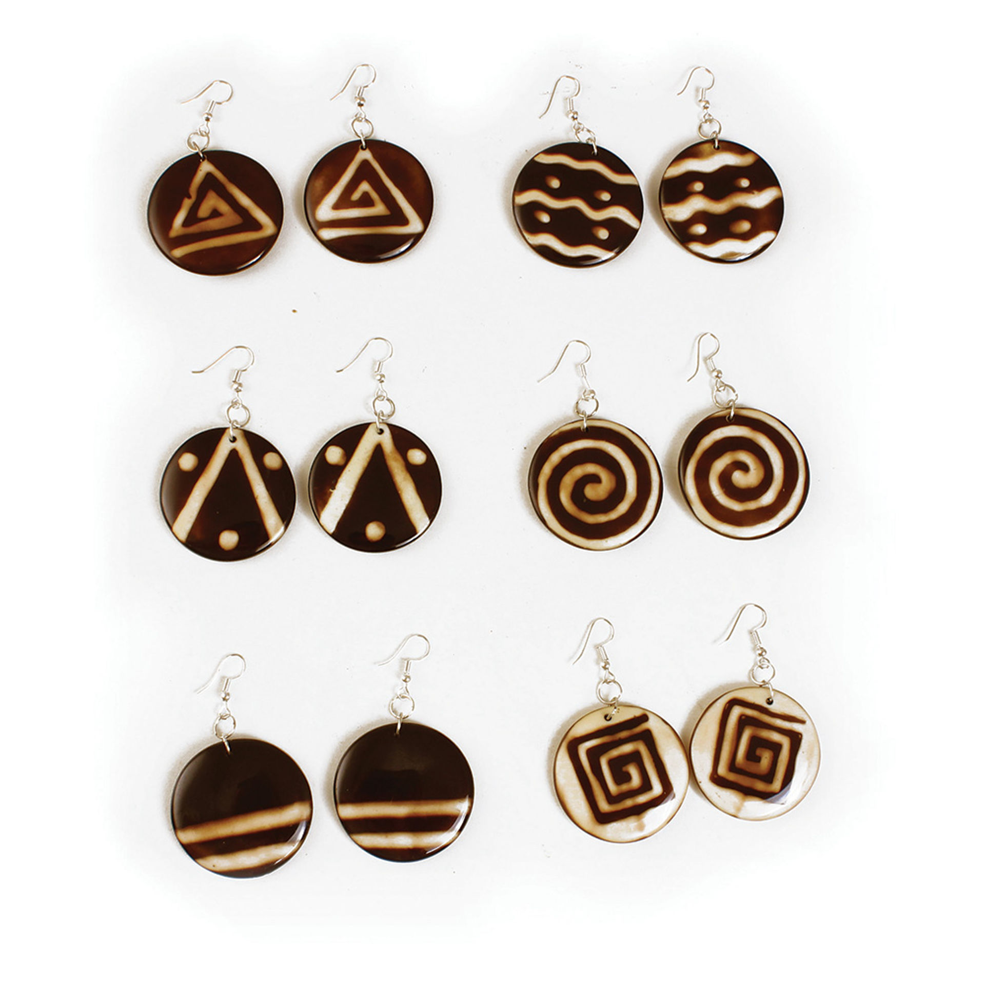 Picture of Set Of 6 Resin Earrings