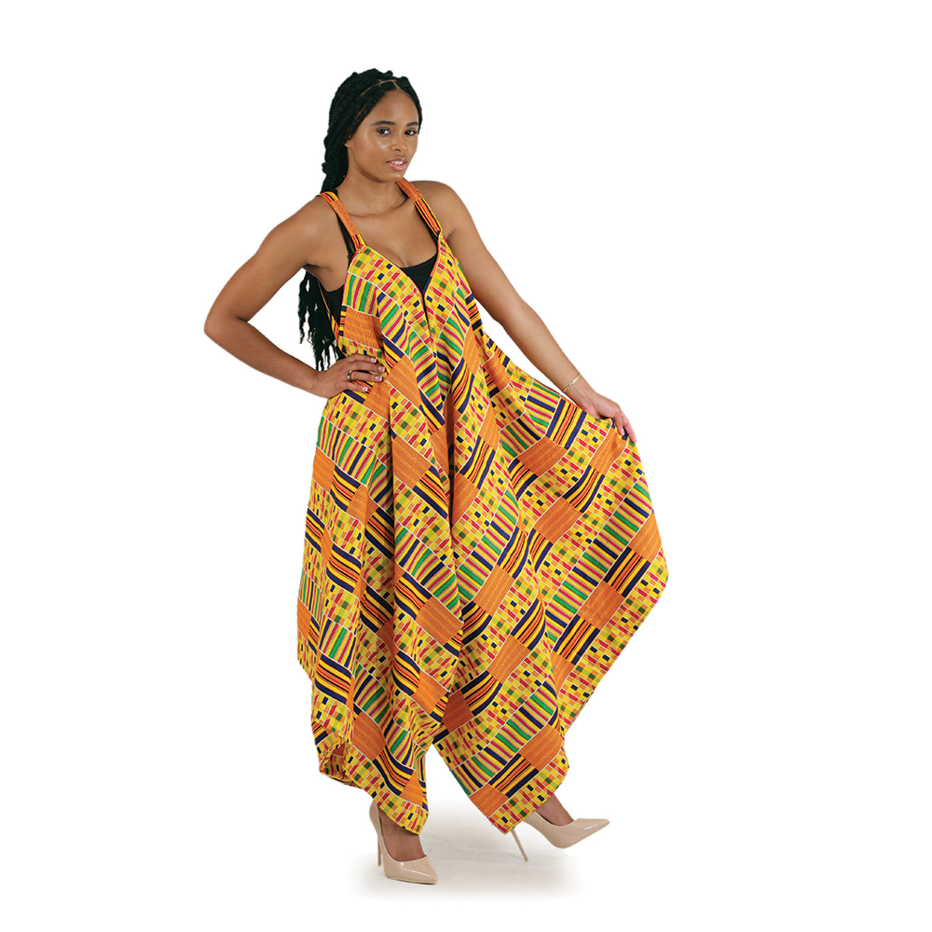Picture of Kente Palazzo Jumpsuit: #1