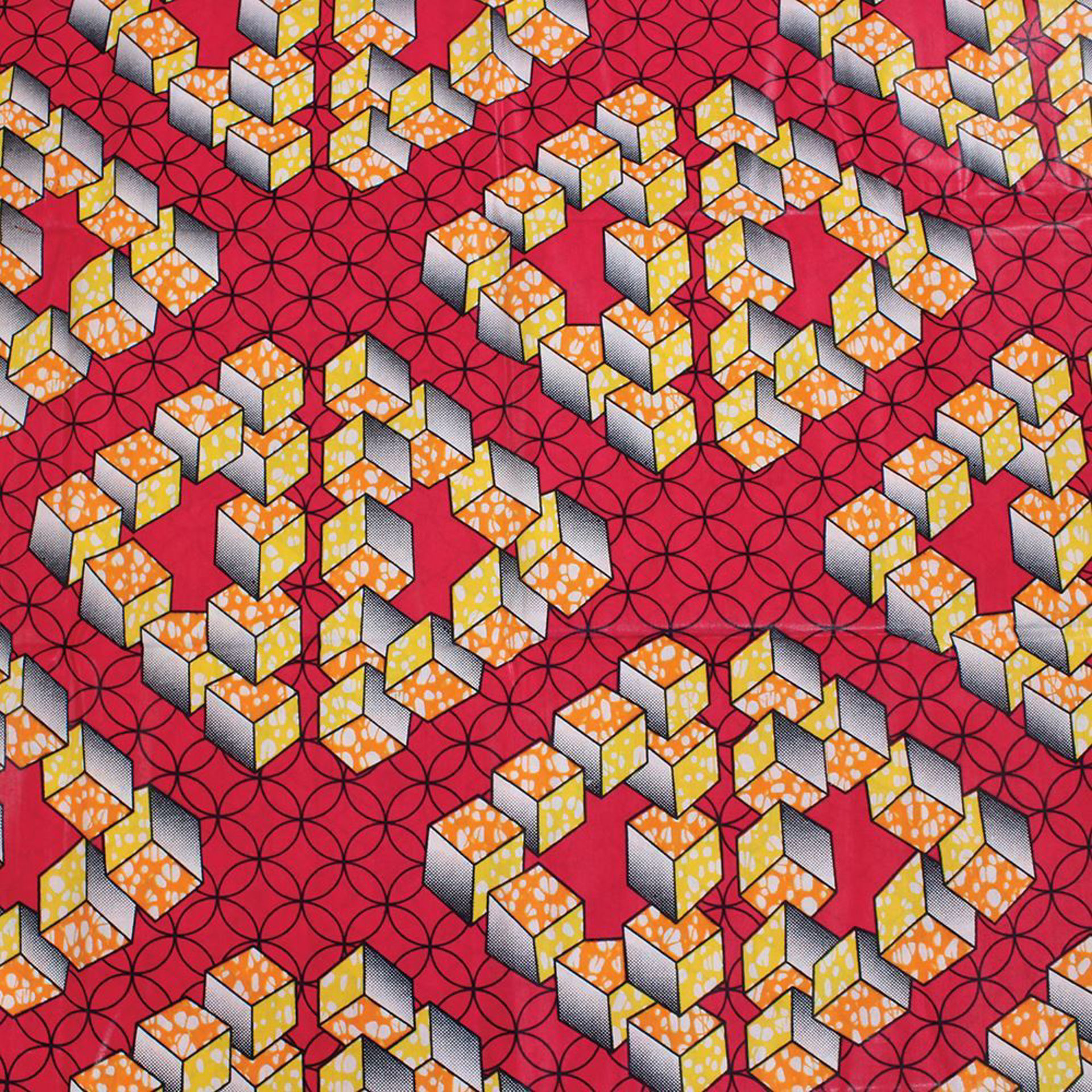 Picture of African Print Fabric: Pink