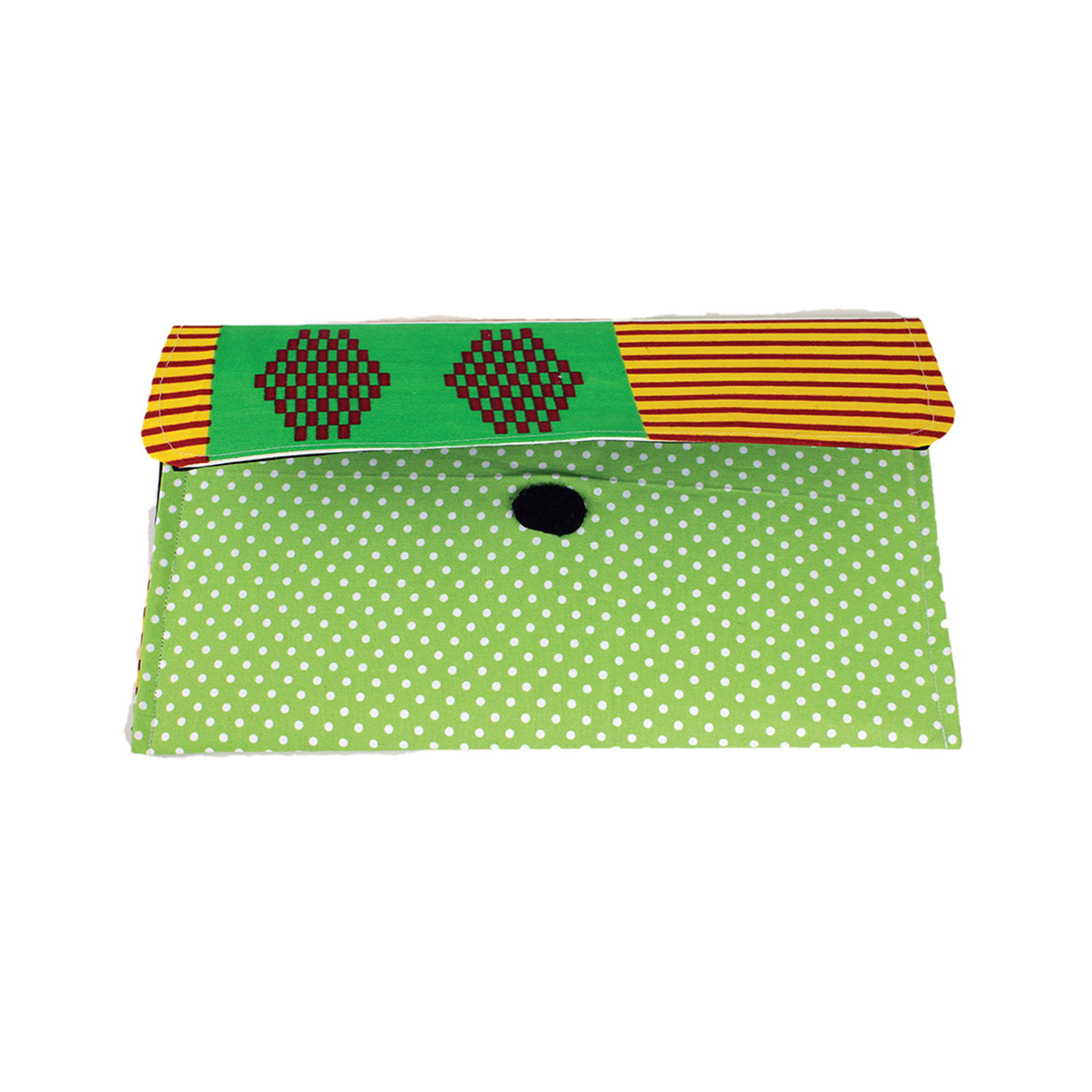 Picture of Green Kente Clutch Bag