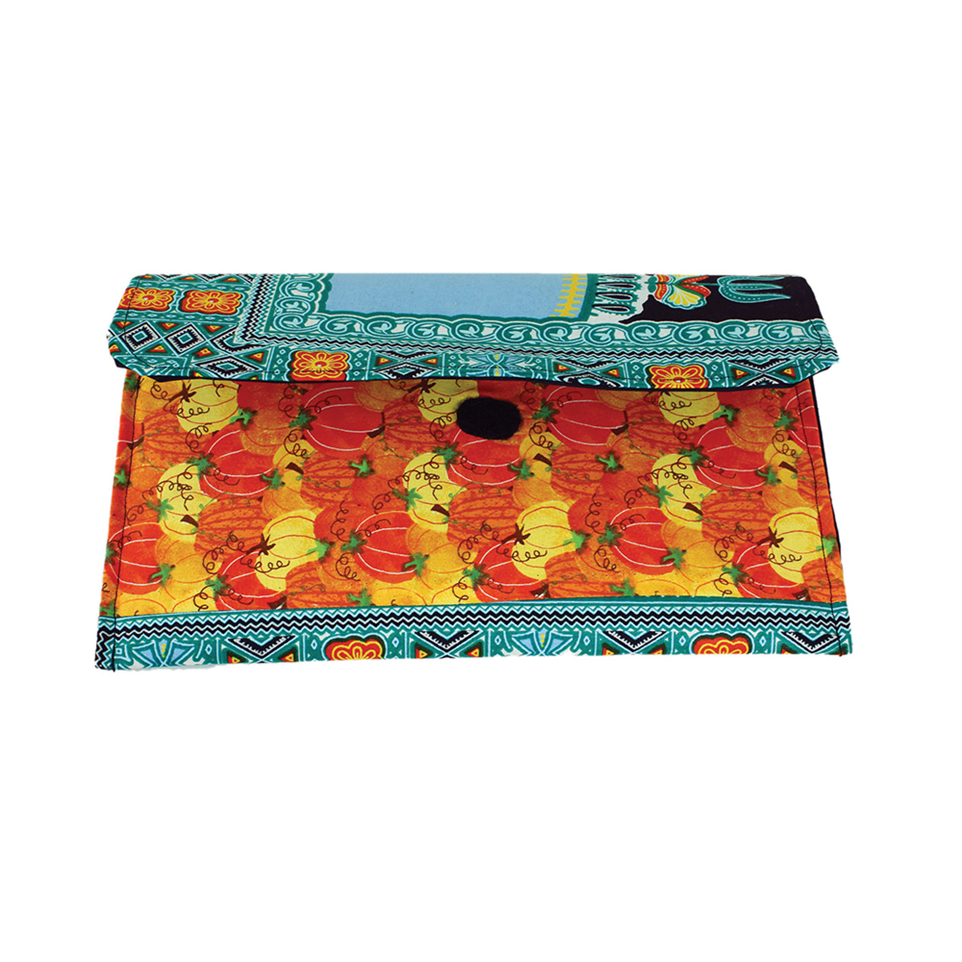 Picture of Traditional Print Pumpkin Clutch Bag