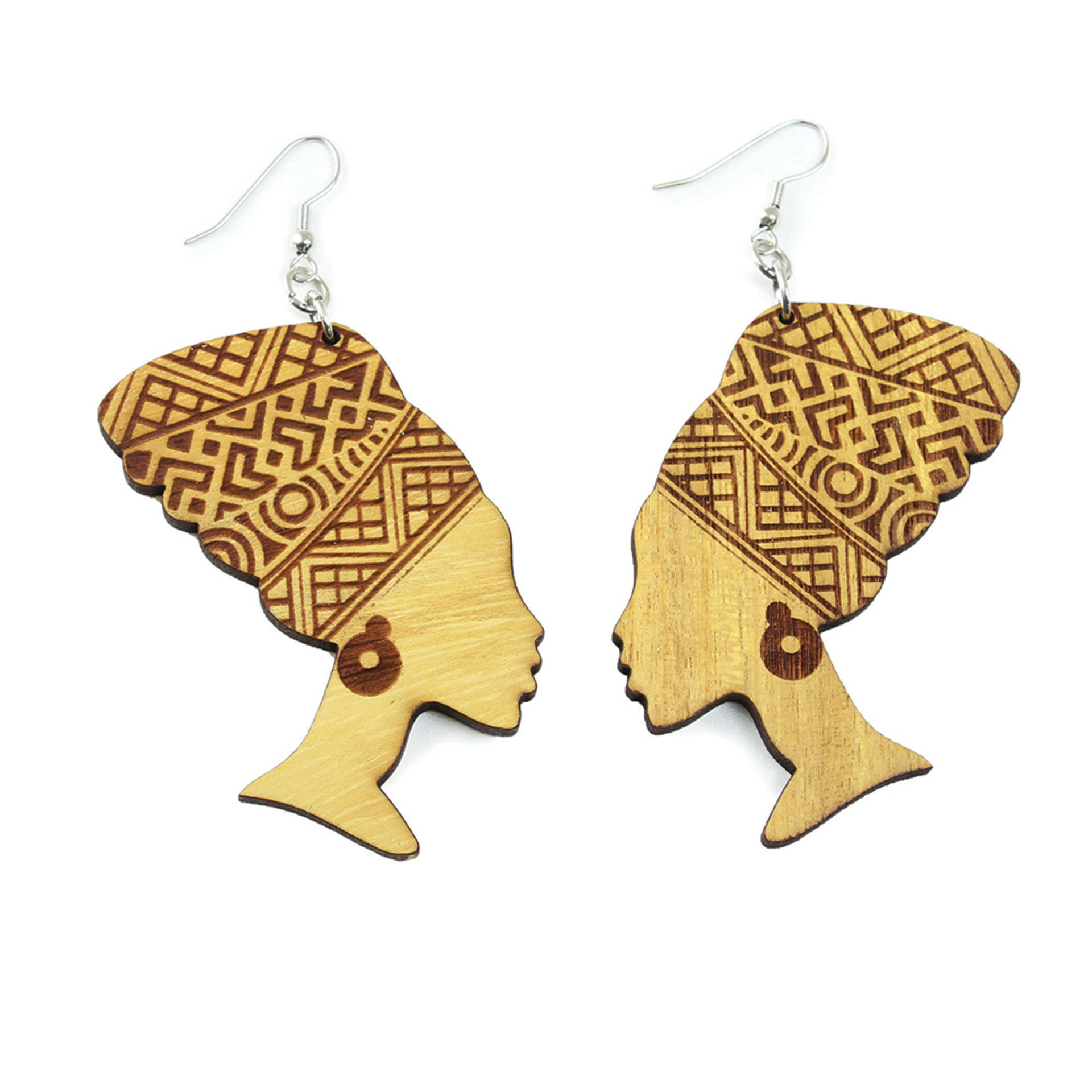 Picture of Wooden Mama Africa Earrings
