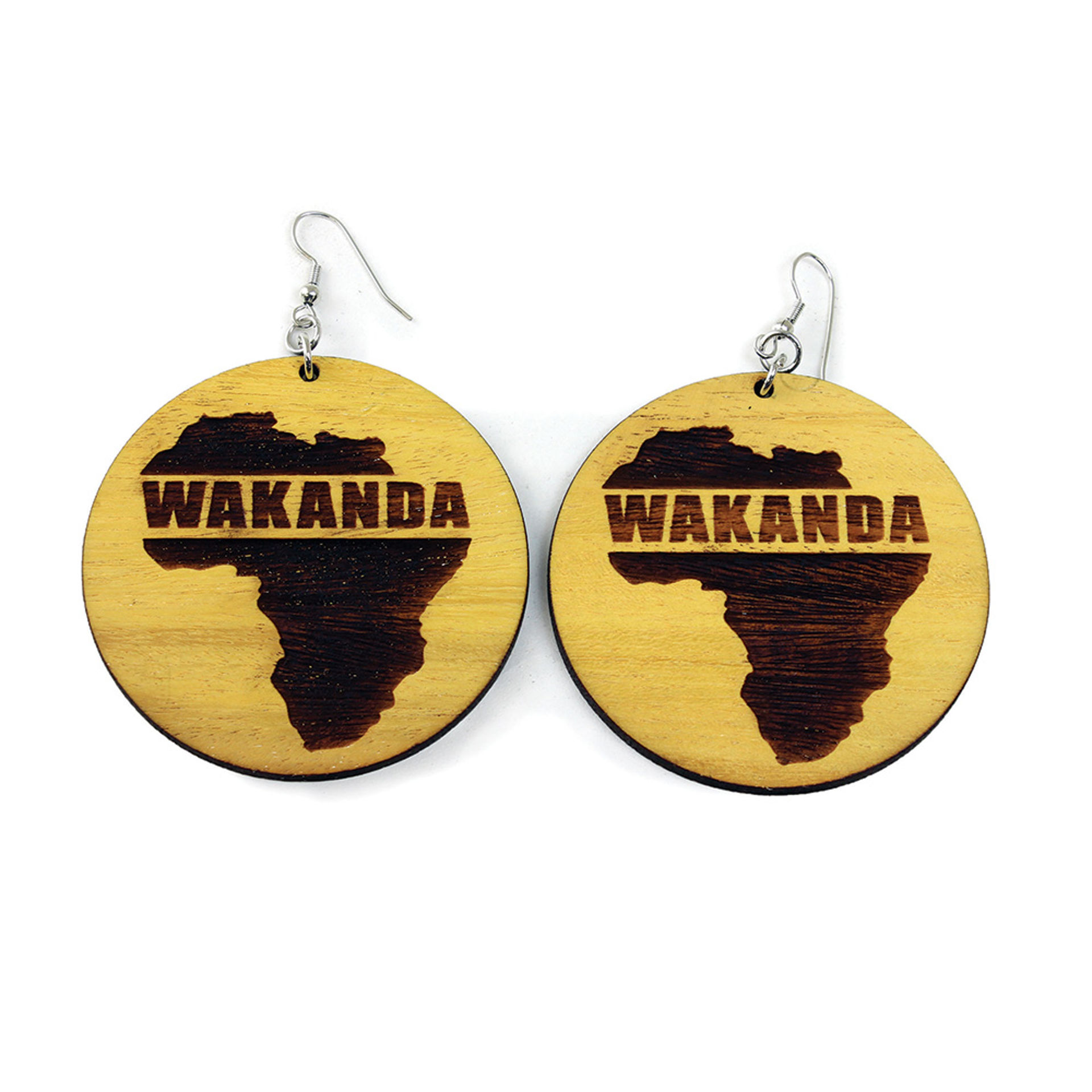 Picture of Wooden Wakanda Earrings