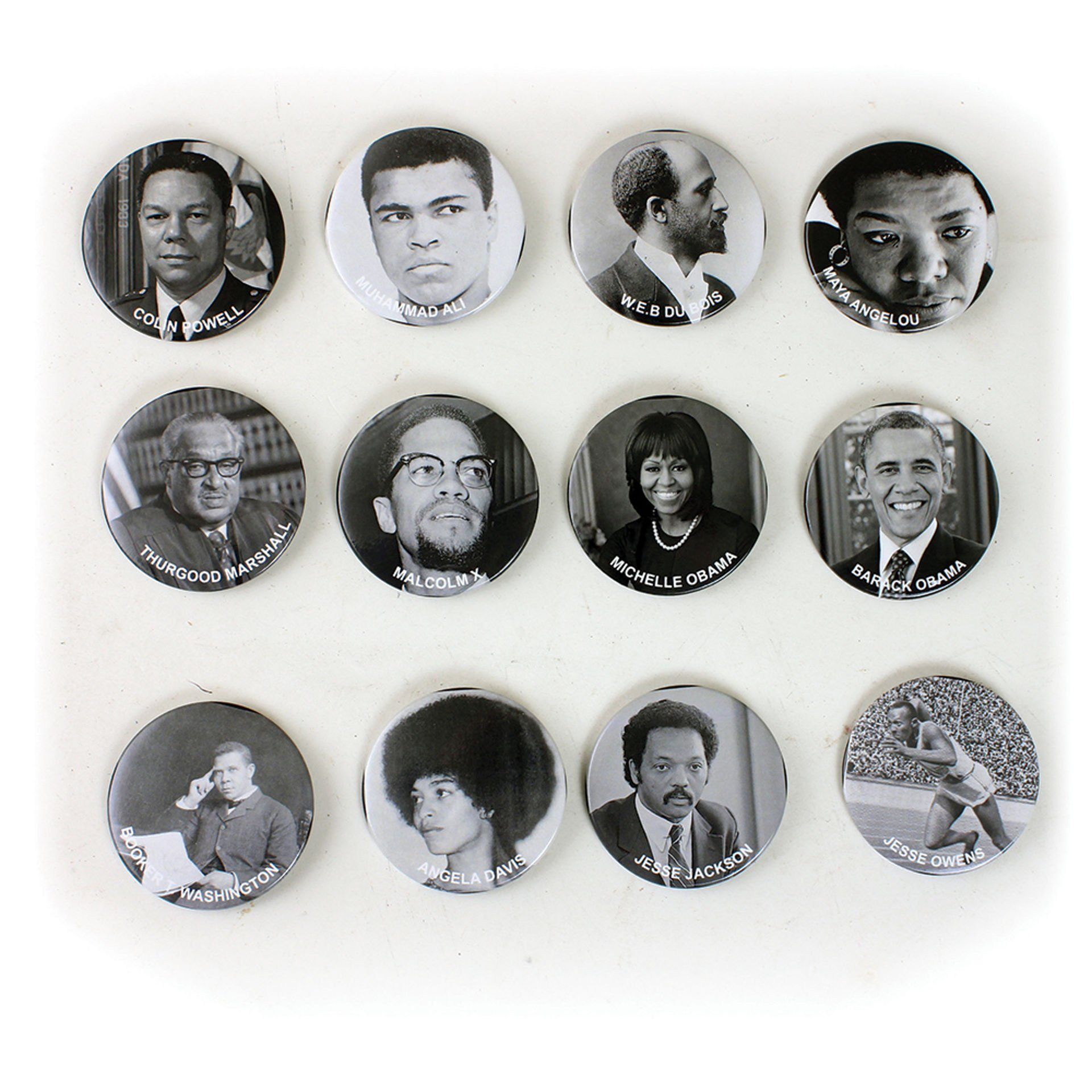 Picture of Set Of 12 Black Pride Buttons