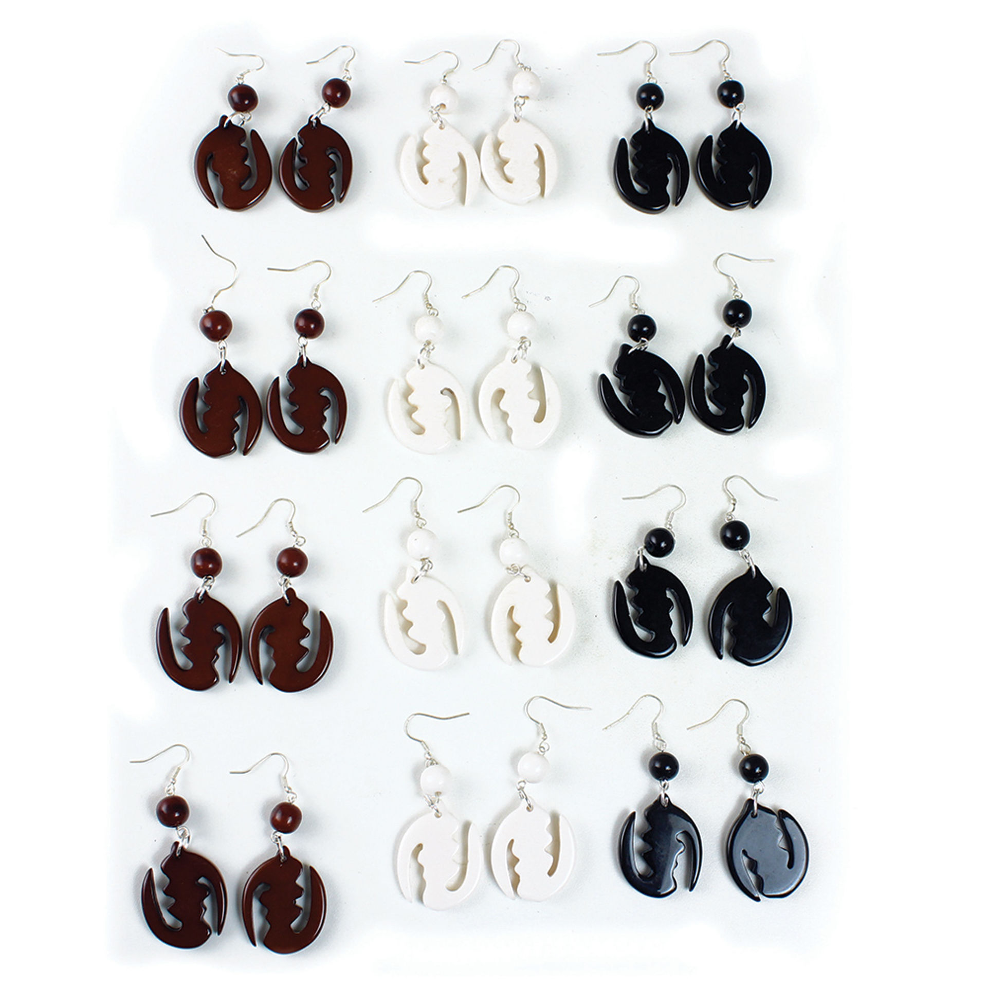 Picture of Set Of 12 Gye Nyame Earrings - SM