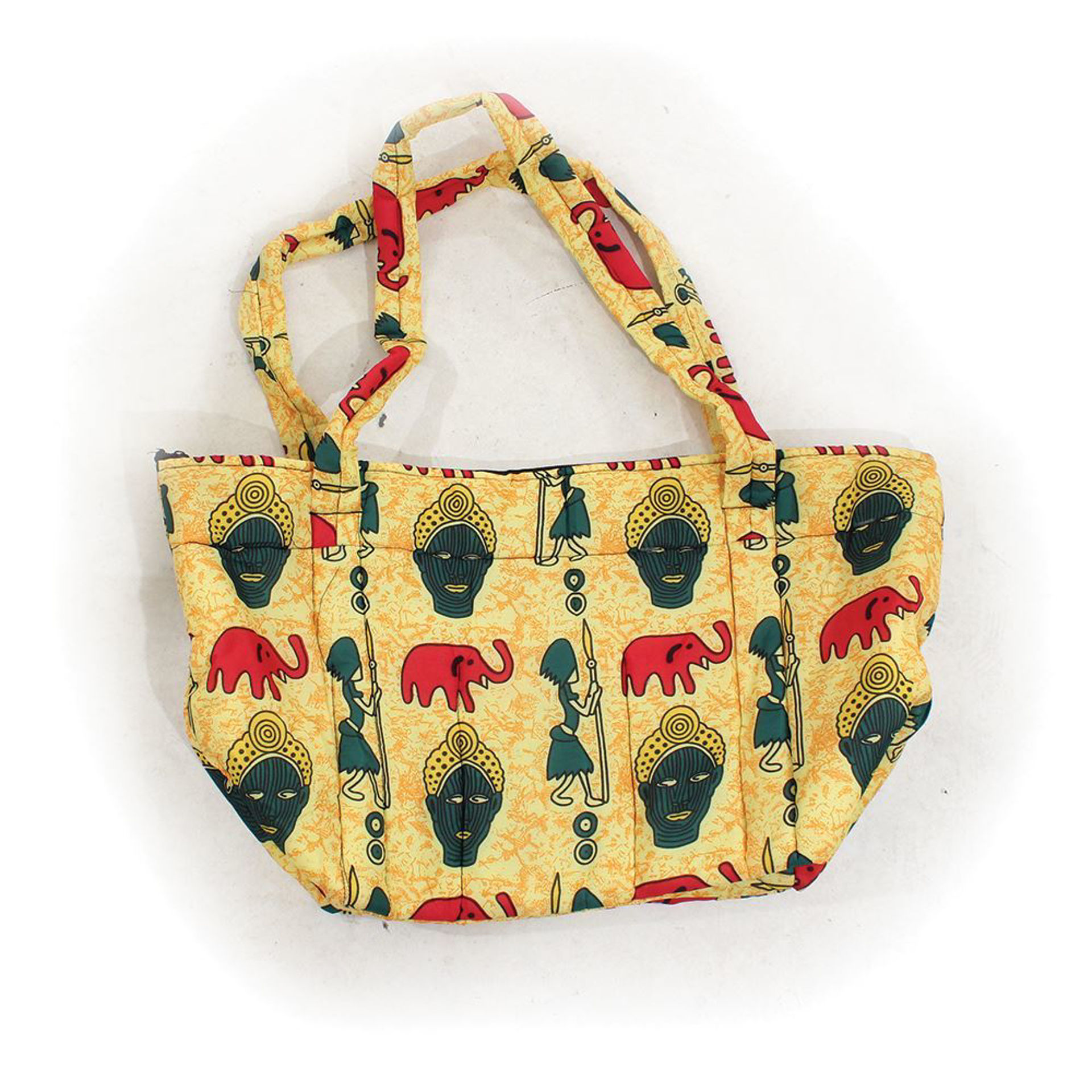 Picture of African Print Hand Bag - Tribal Yellow