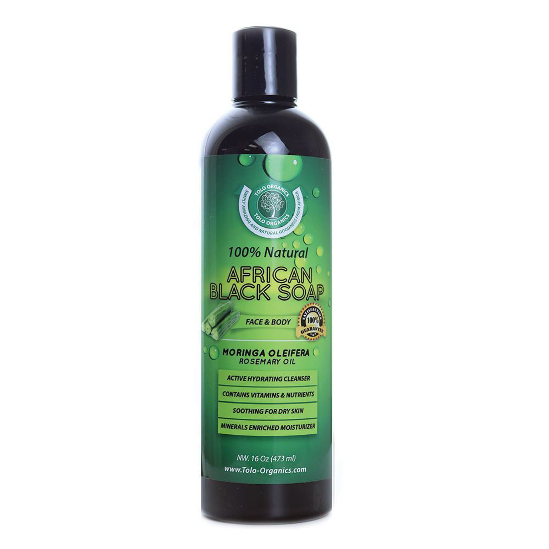 Picture of African Black Soap: Moringa 16 oz.