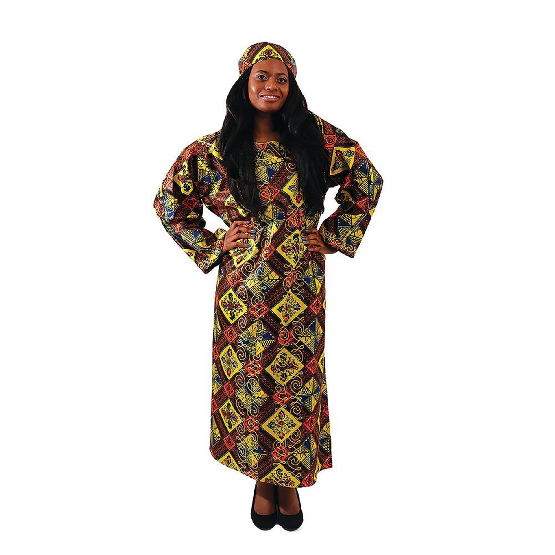 Picture of Embroidered Royalty Print Kaftan
