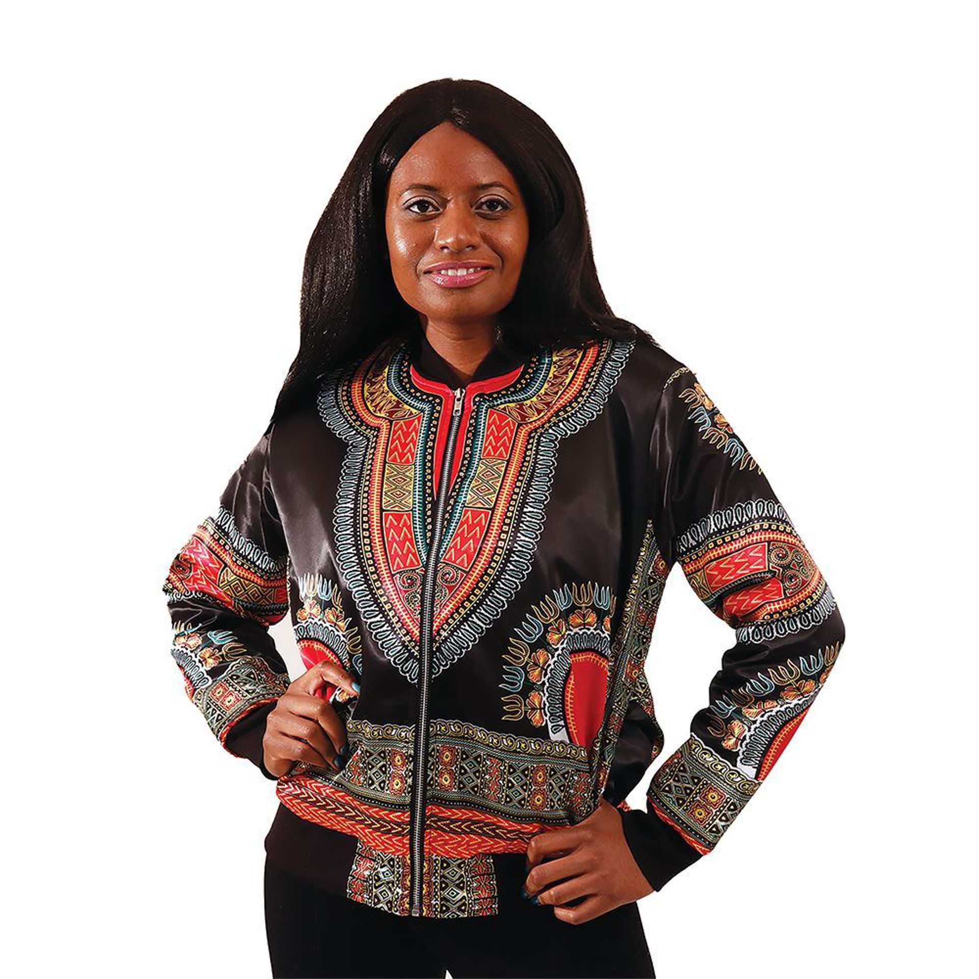 Picture of Woman's Black Trad Print Jacket