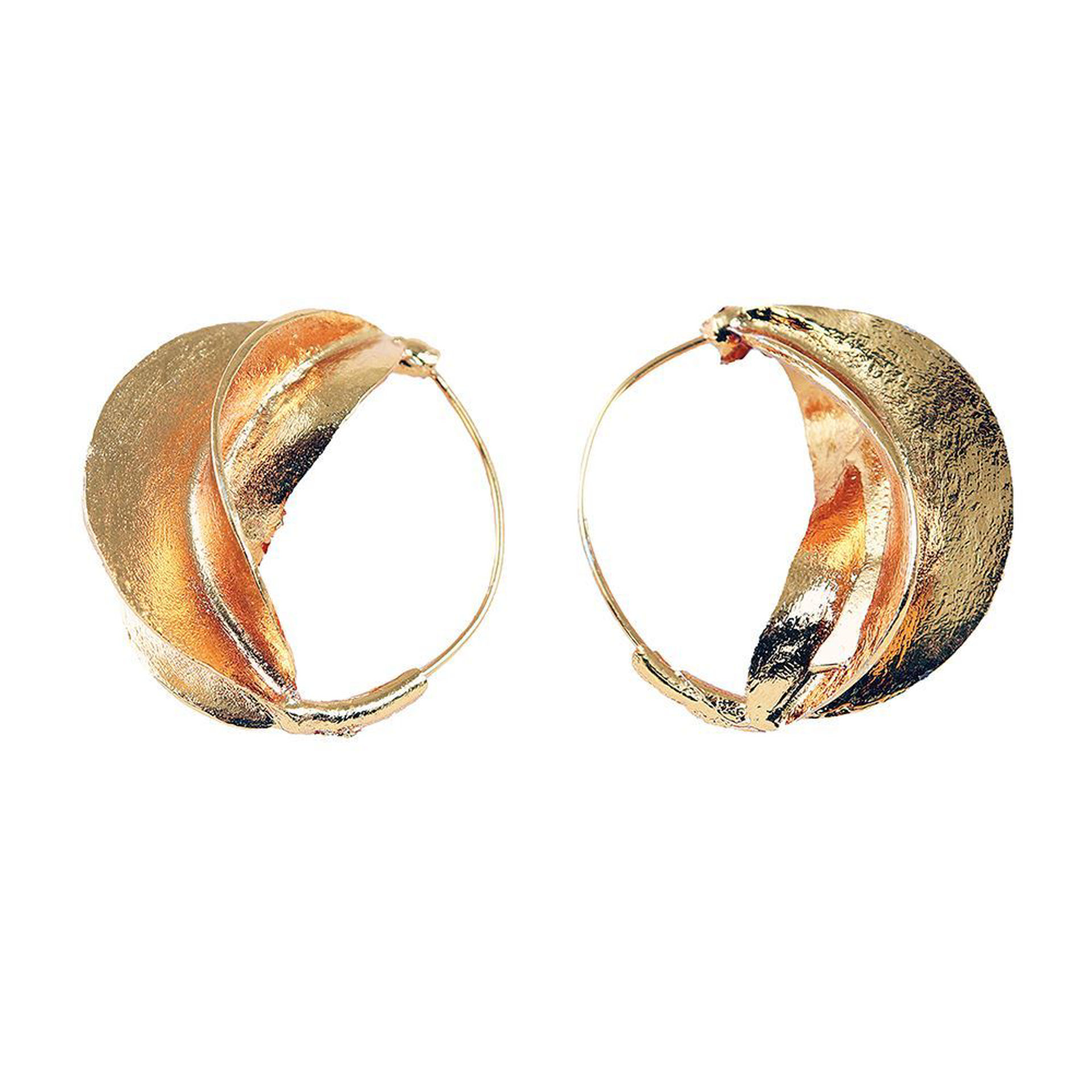 """Picture of Fulani Warm Gold Earrings - 1½"""""""