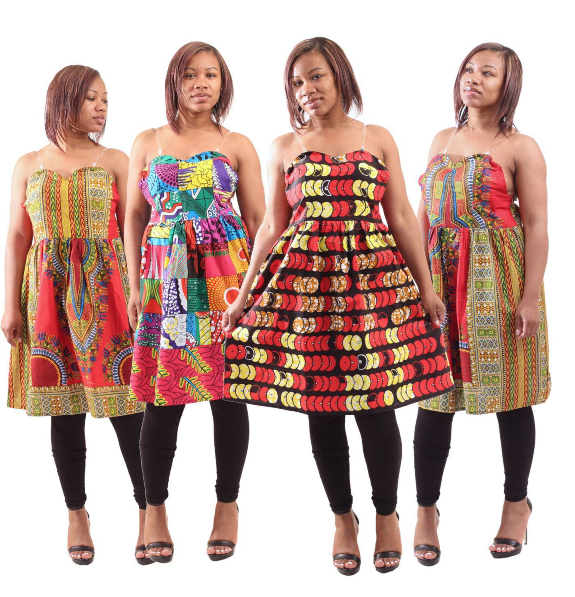 Picture of Set Of 4 ASSORTED Strap Dresses (MD+LG)