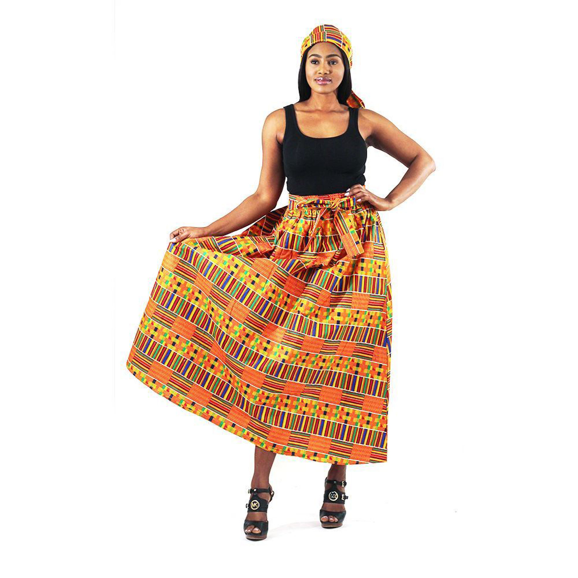 Picture of Kente #1 Panel Skirt