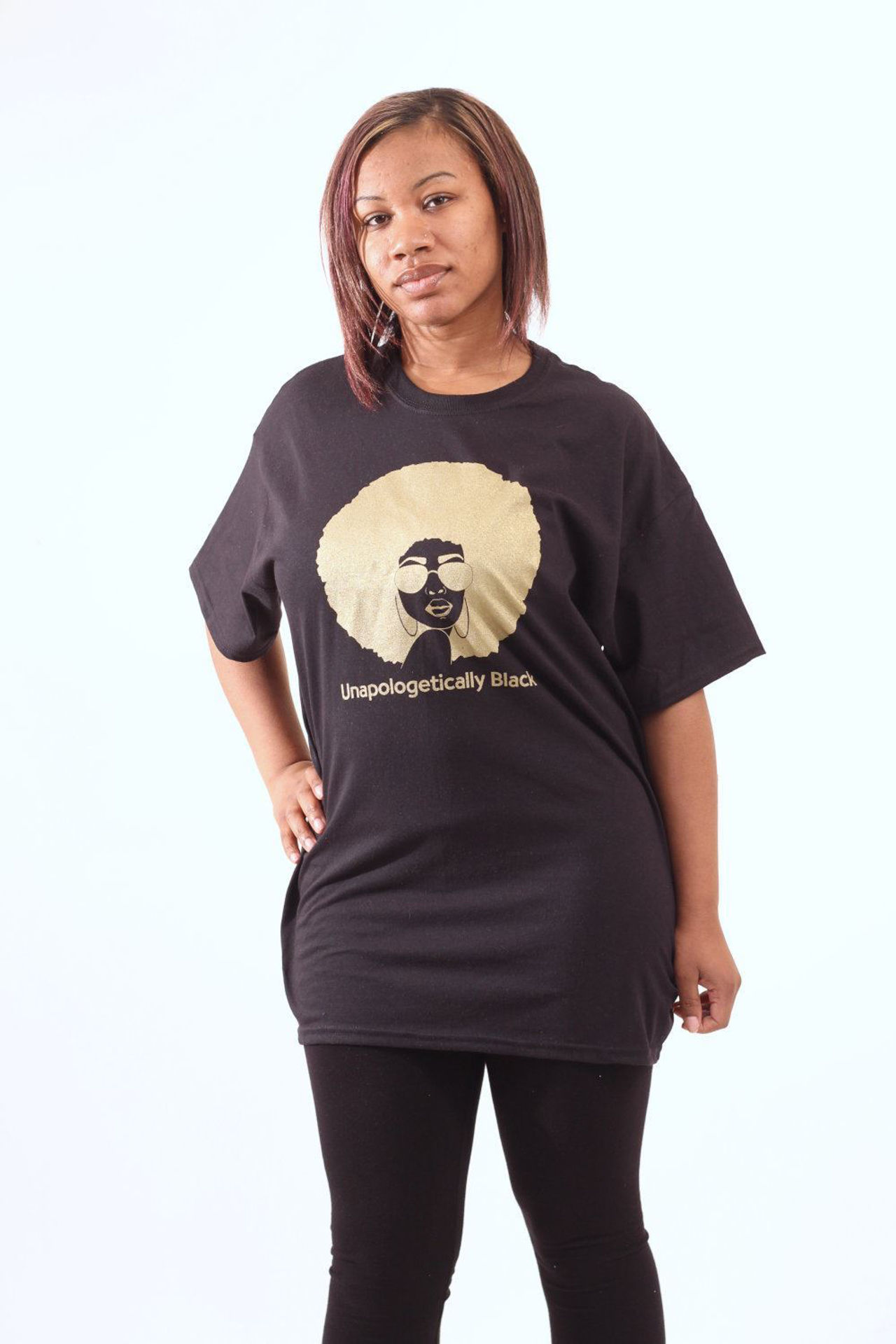 Picture of Unapologetically Black T-Shirt: BLACK
