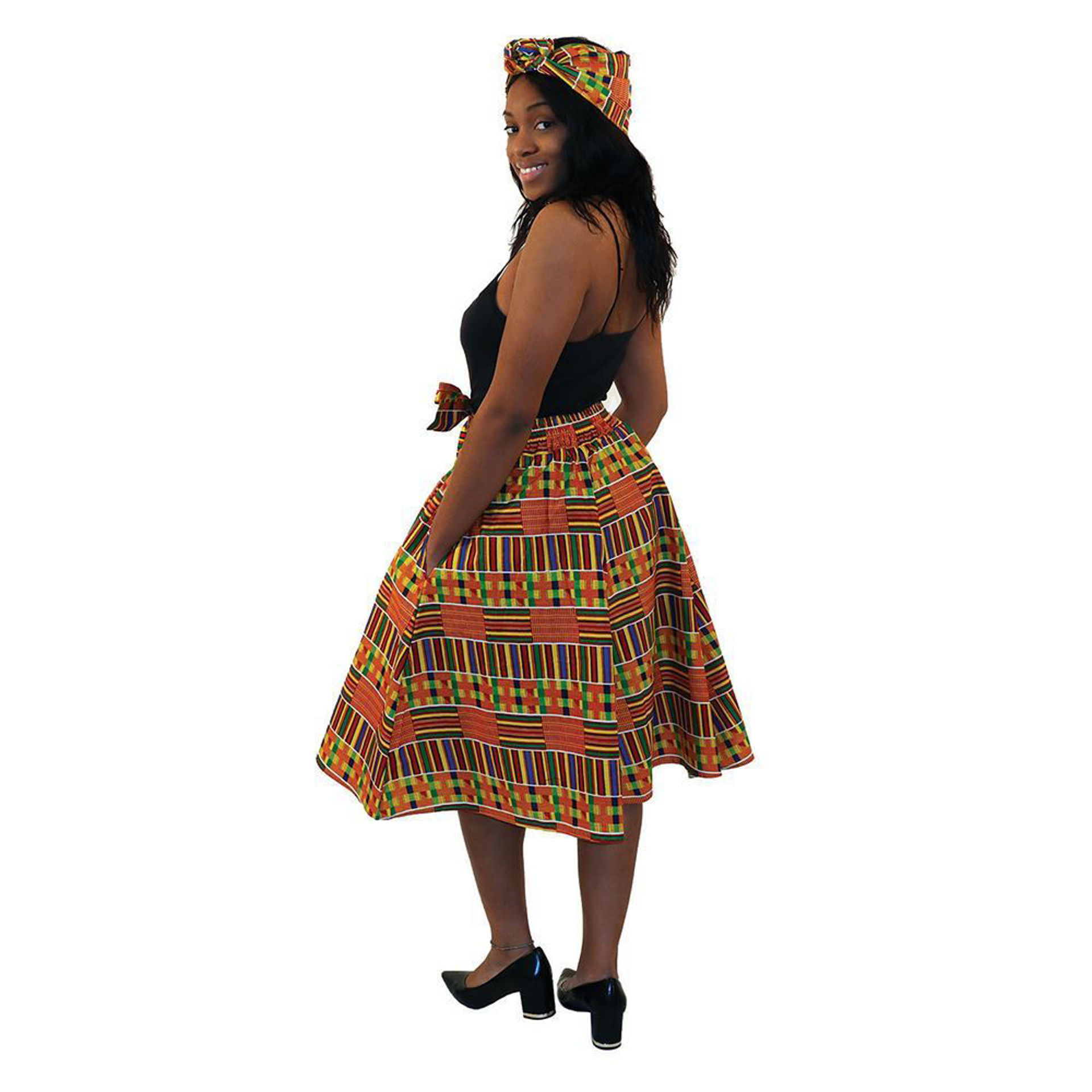 Picture of Kente Elastic Skirt #1